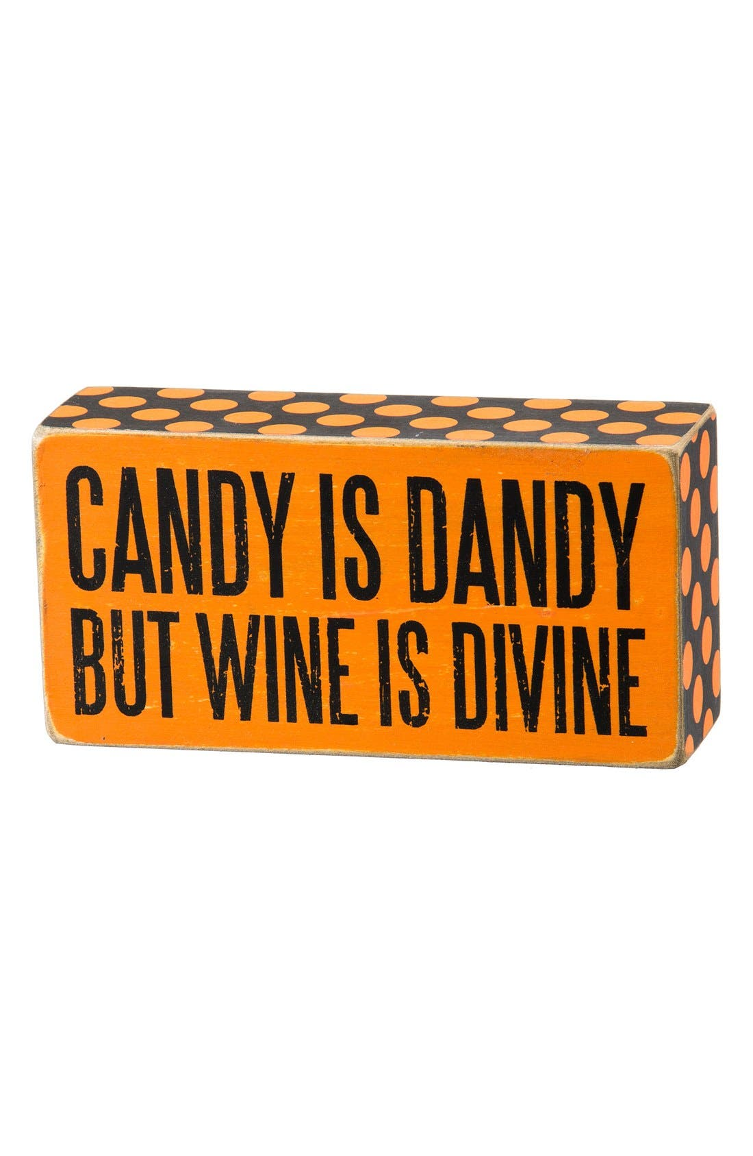 Main Image - Primitives by Kathy 'Candy is Dandy But Wine is Divine' Box Sign