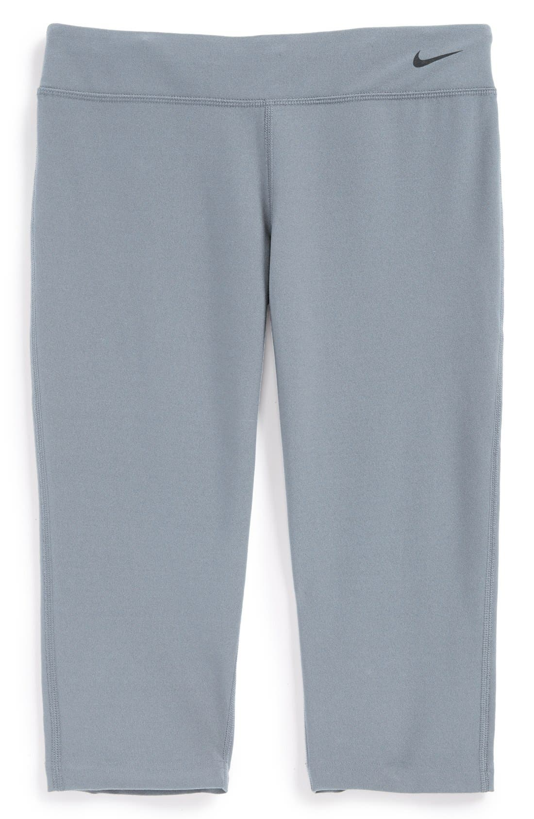 Alternate Image 1 Selected - Nike 'Legend - Tight Fit' Capris (Big Girls)