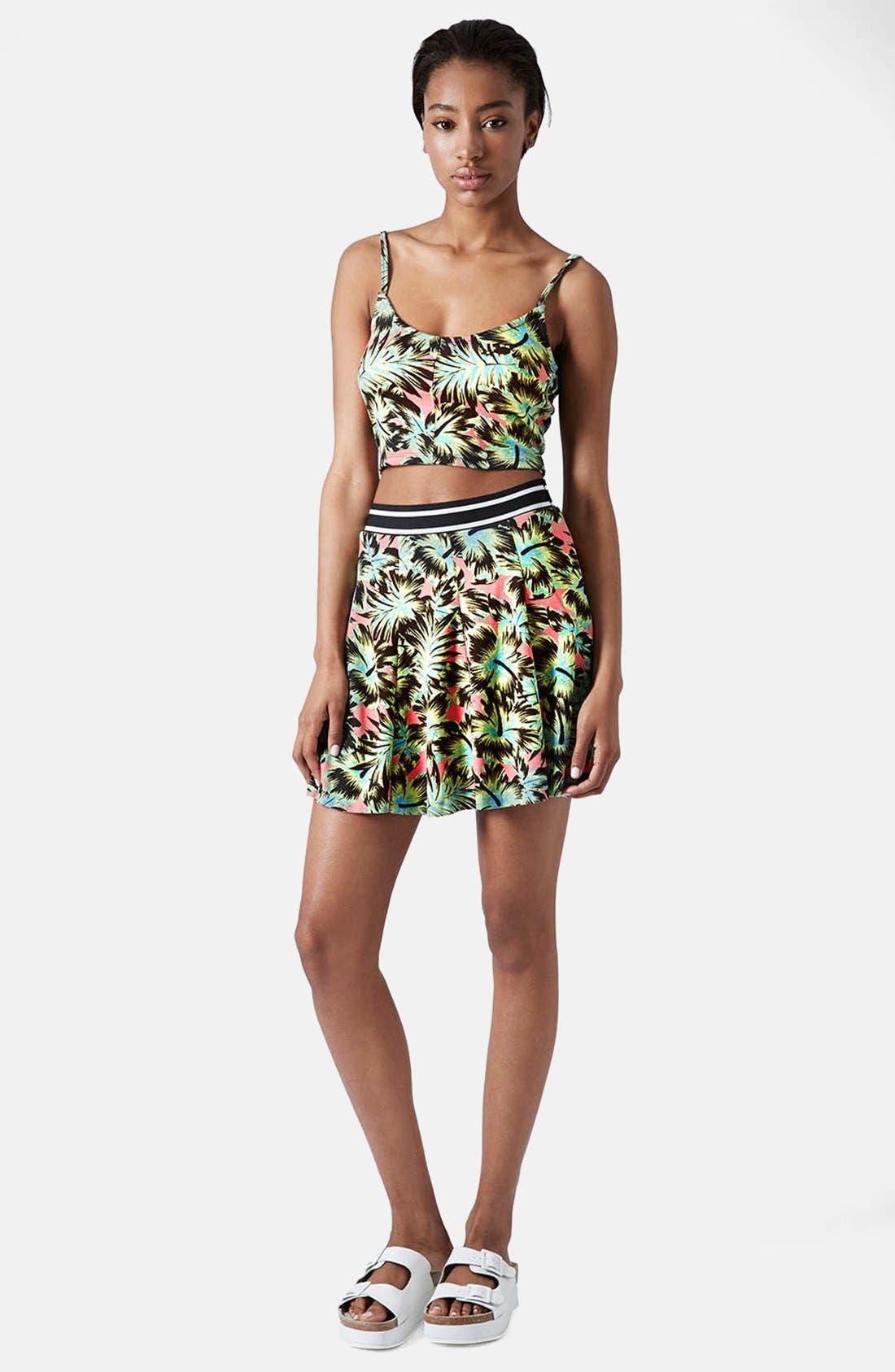 Alternate Image 5  - Topshop Hawaiian Print Pleated Skirt