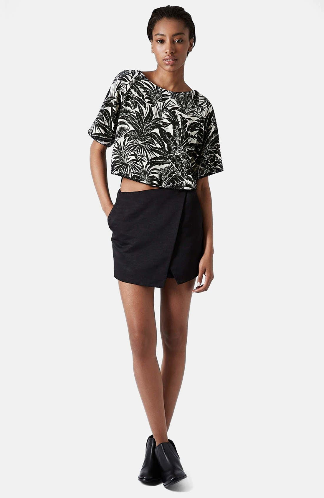 Alternate Image 5  - Topshop Tropical Print Raglan Tee