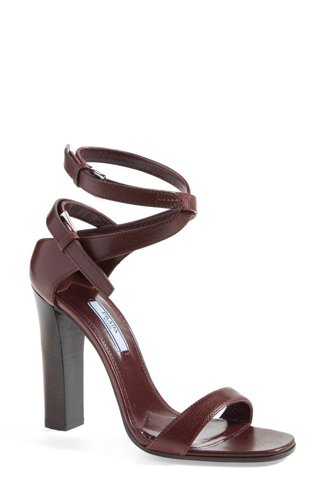 Alternate Image 1 Selected - Prada Double Ankle Strap Sandal (Women)