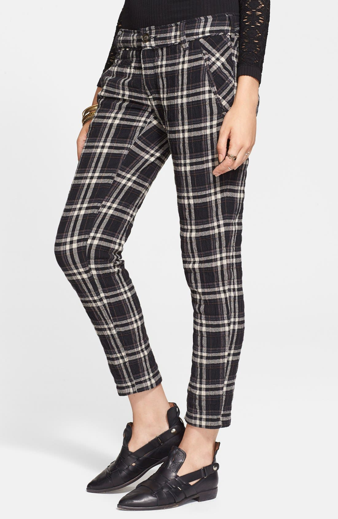 Alternate Image 1 Selected - Free People Plaid Ankle Trousers