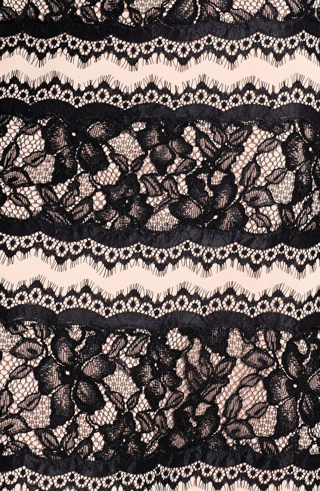 Alternate Image 3  - Tadashi Shoji Lace Embellished Neoprene Gown