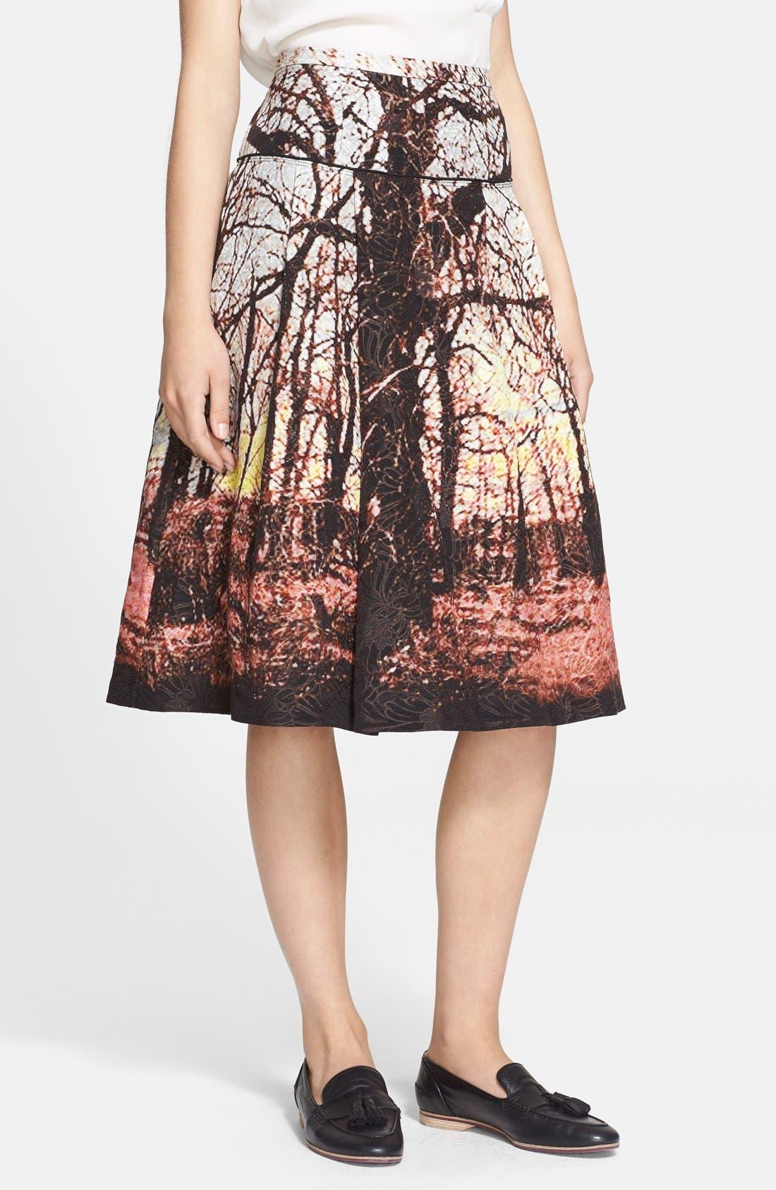 Main Image - Tracy Reese Print Jacquard A-Line Skirt