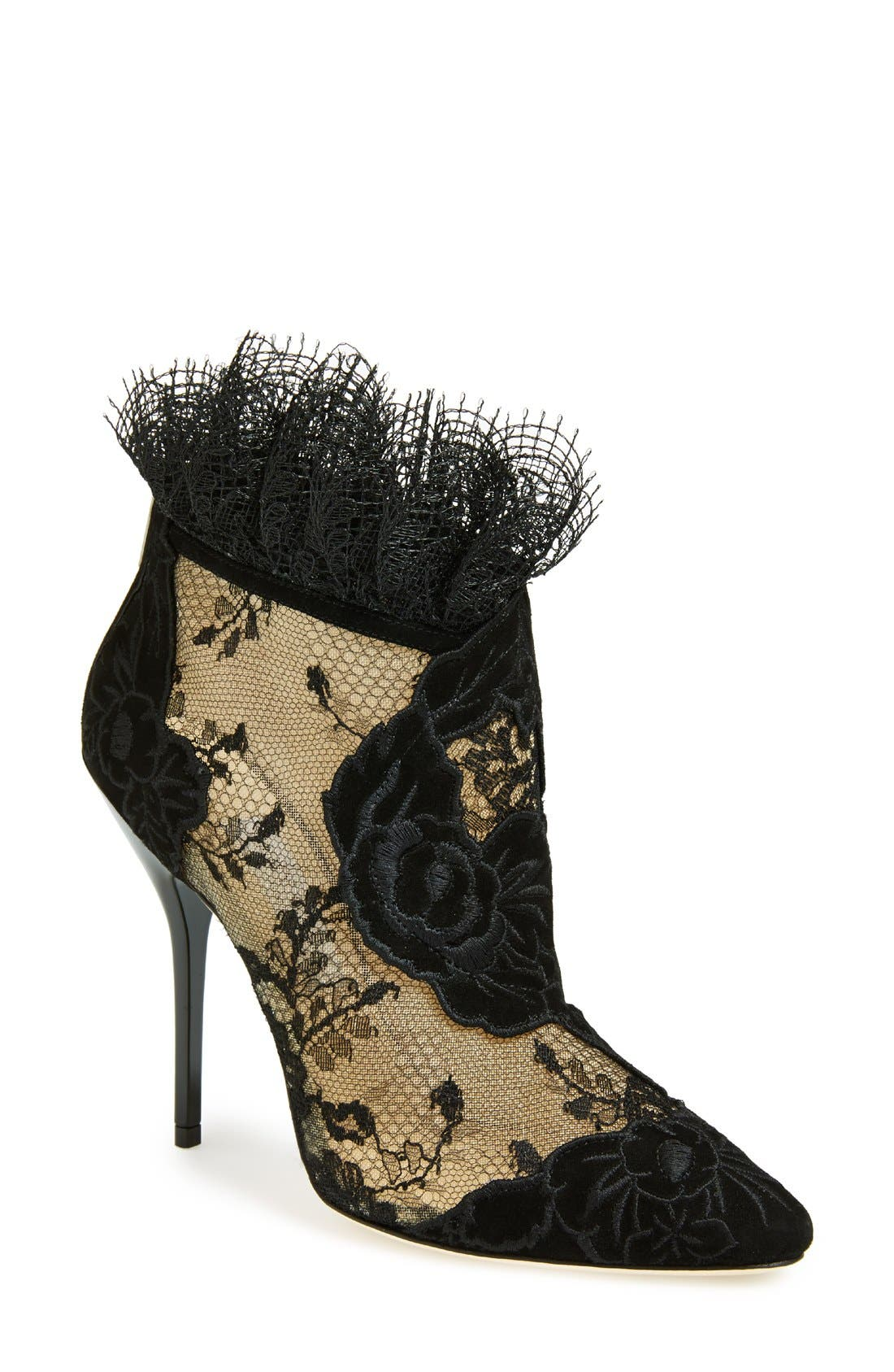 Main Image - Jimmy Choo 'Kamaris' Lace Ankle Bootie (Women)