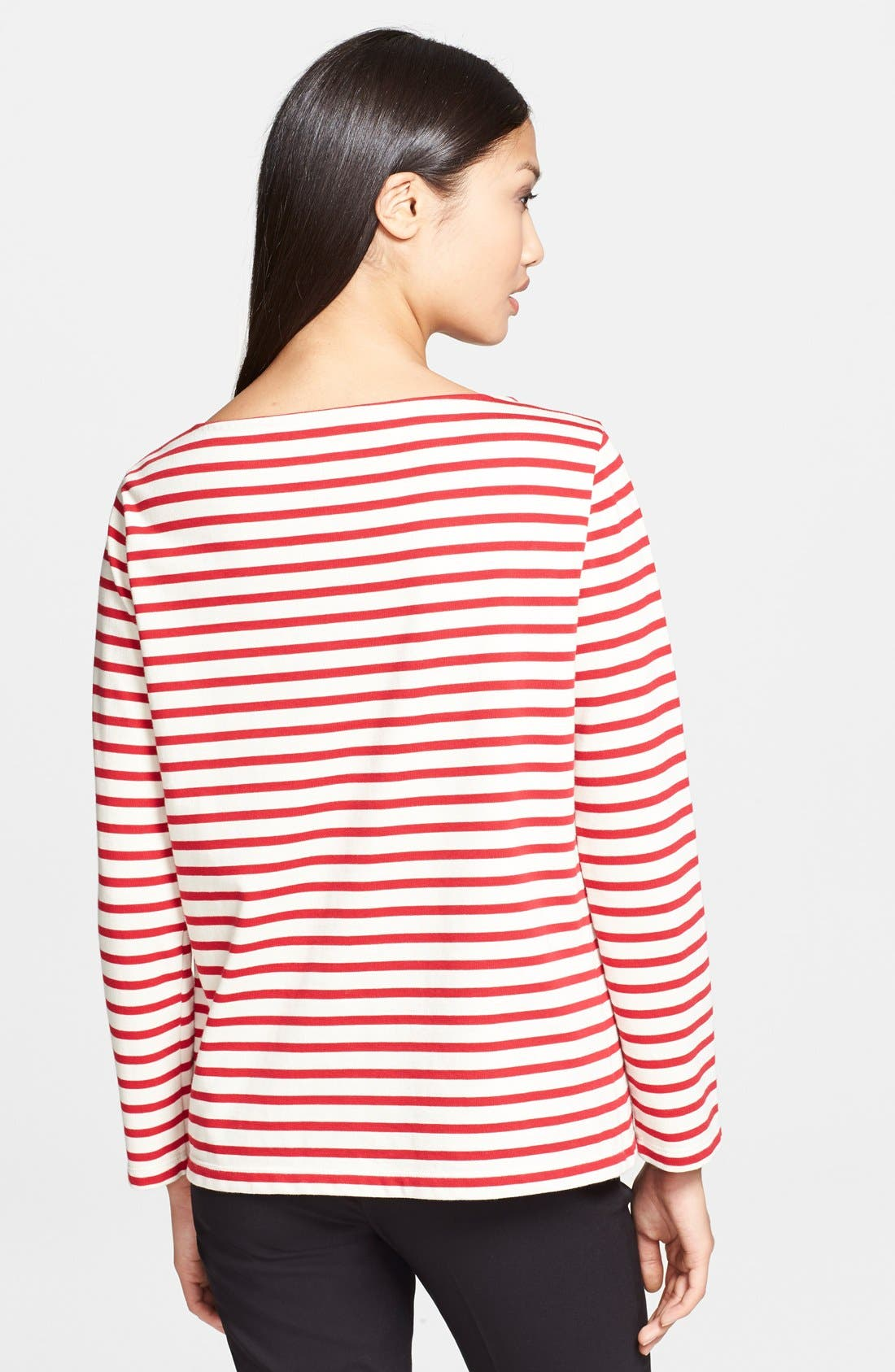 Alternate Image 2  - Tory Burch 'Tessa' Stripe Cotton Top