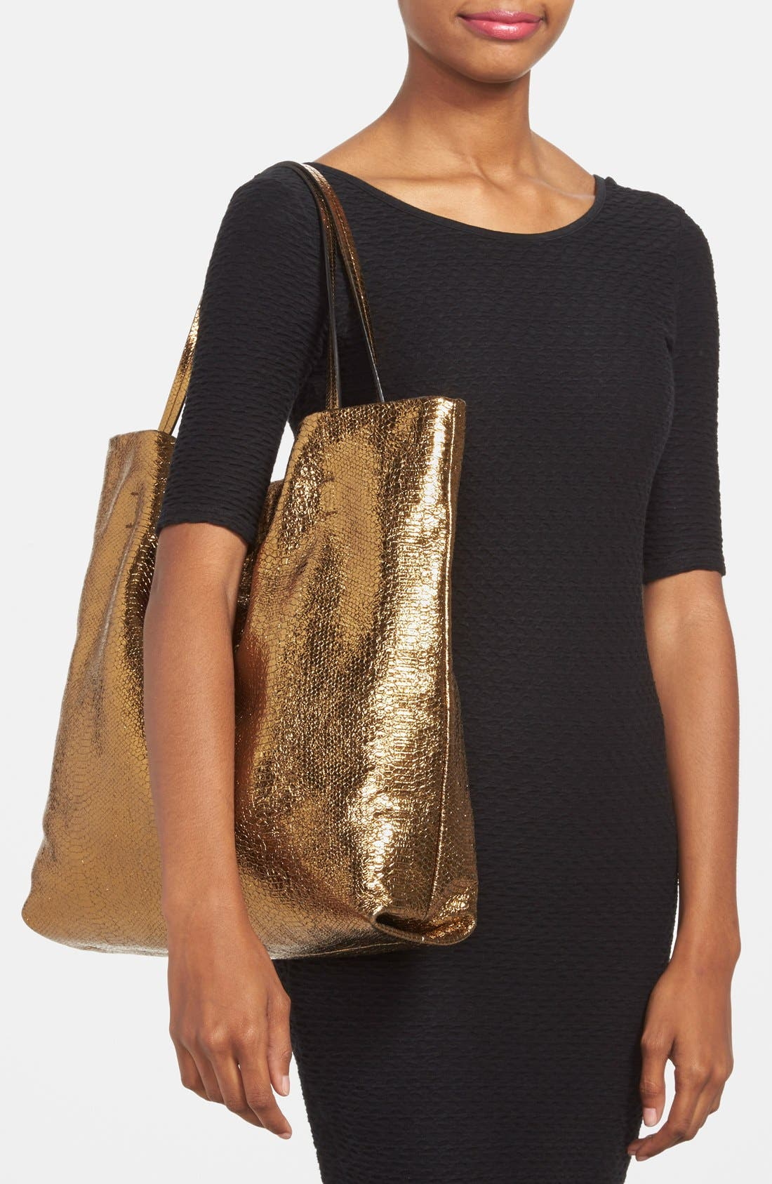 Alternate Image 2  - Lanvin 'Medium Carry Me' Snake Embossed Metallic Leather Tote
