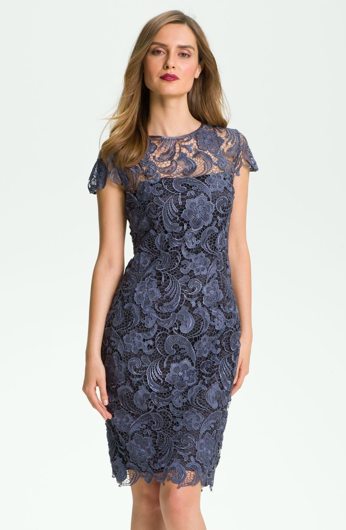 Alternate Image 1 Selected - Patra Crocheted Venise Lace Sheath Dress