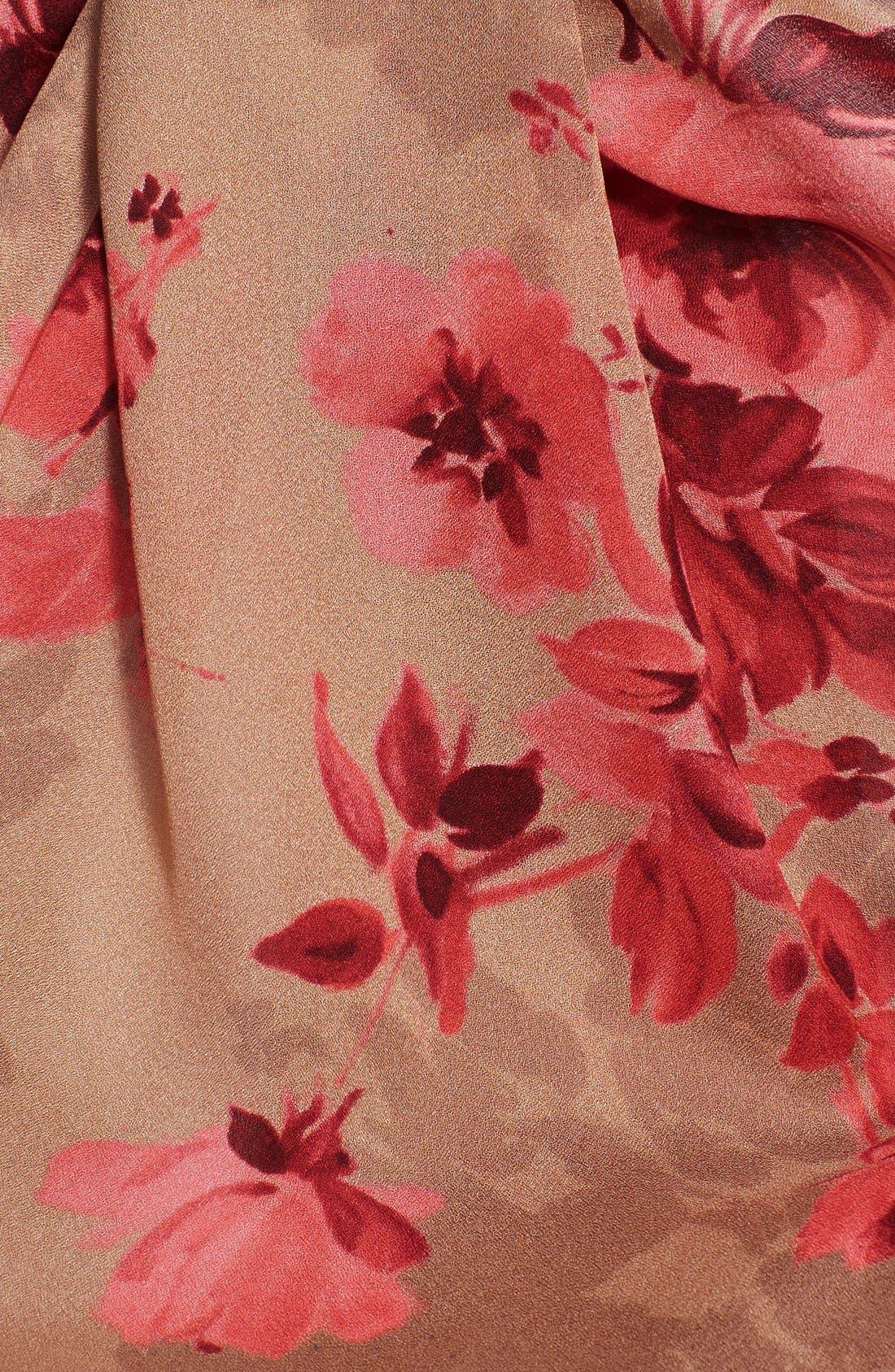 Alternate Image 2  - St. John Collection Bouquet Print Silk Georgette Scarf