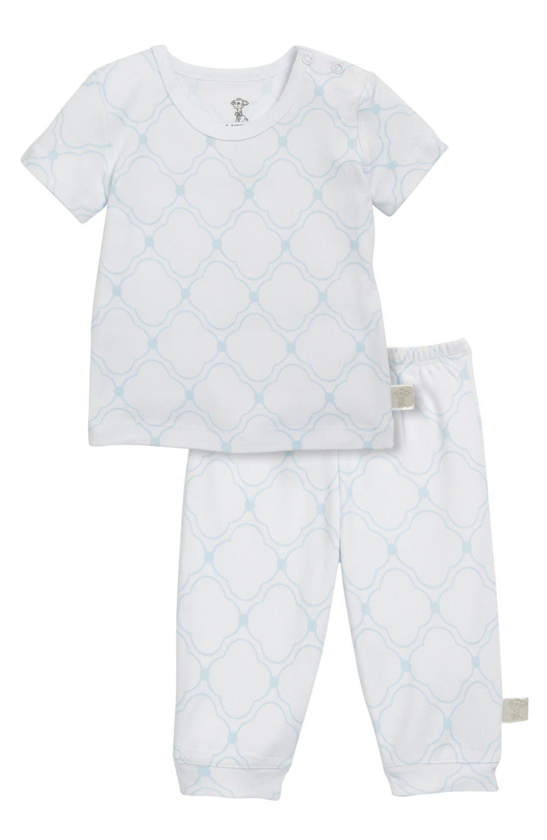 Alternate Image 2  - Little Giraffe Snap Shoulder T-Shirt (Baby)