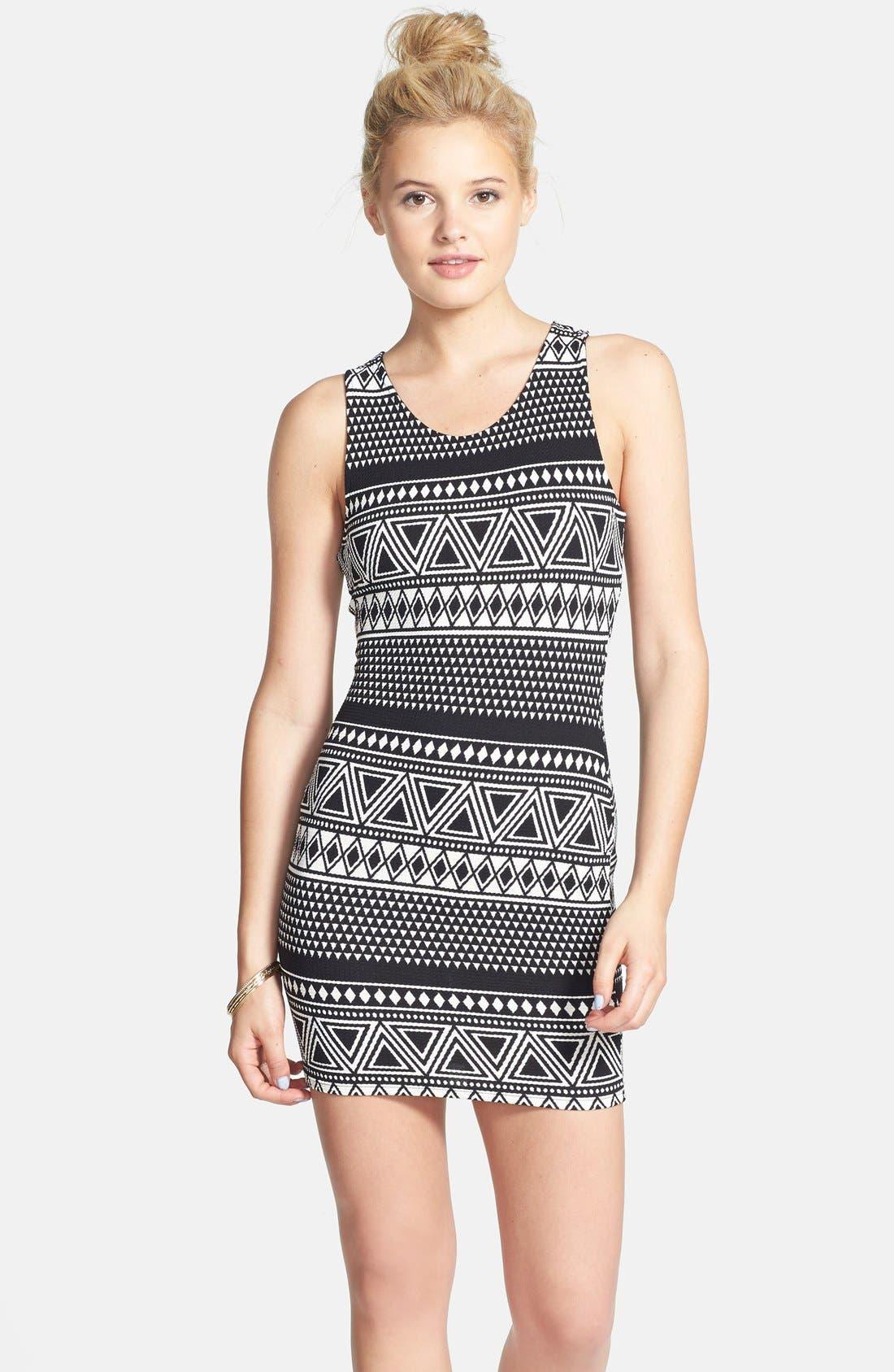 Alternate Image 1 Selected - Elodie Cutout Back Body-Con Dress (Juniors)