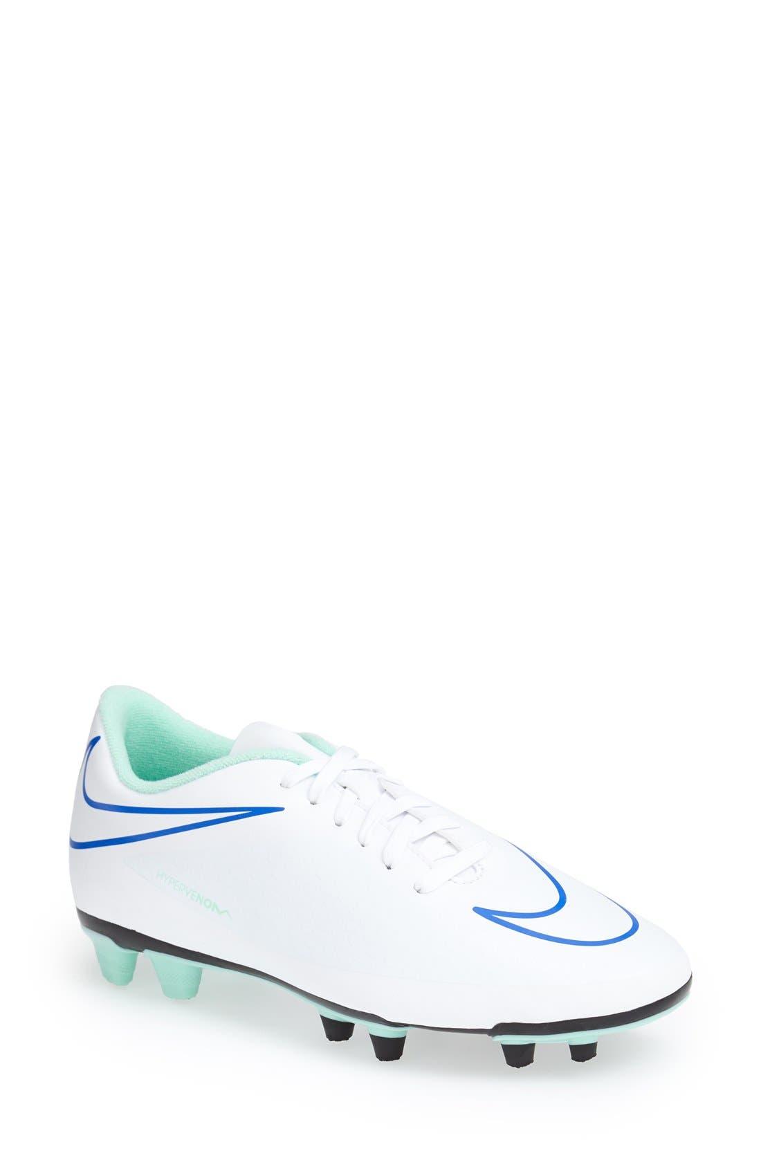 Main Image - Nike 'Hypervenom Phade' Firm Ground Soccer Cleat (Women)