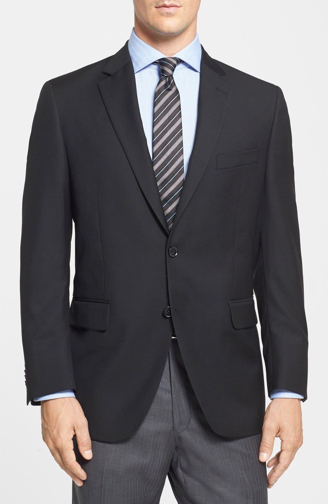 Alternate Image 1 Selected - Peter Millar Classic Fit Black Wool Sport Coat