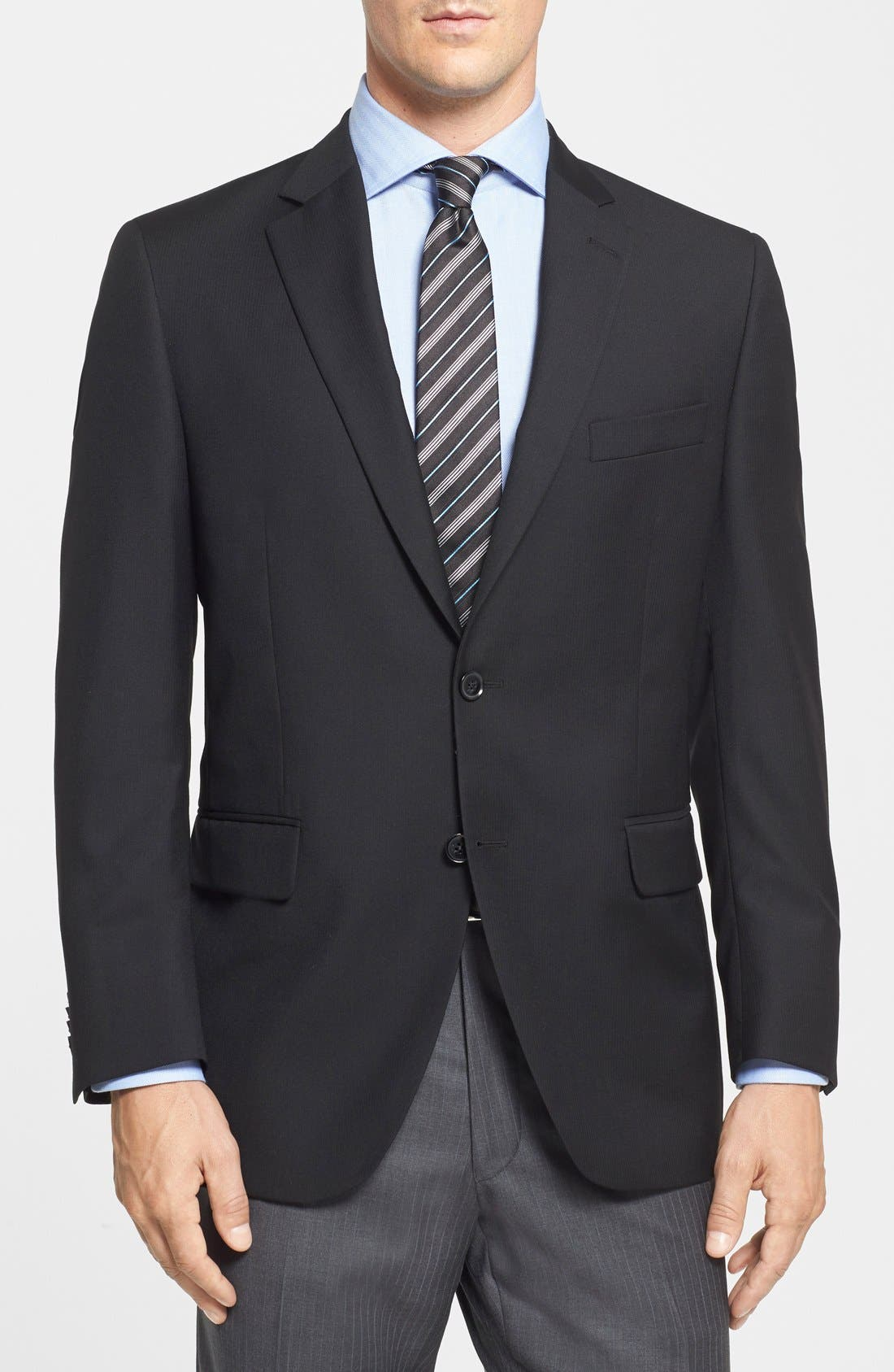 Main Image - Peter Millar Classic Fit Black Wool Sport Coat