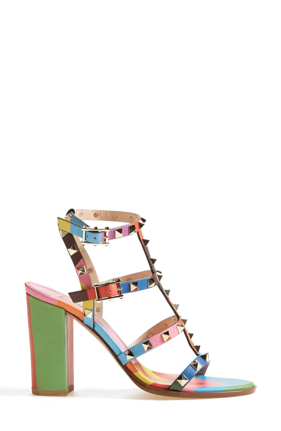 Alternate Image 4  - Valentino 'Rockstud' T-Strap Sandal (Women)