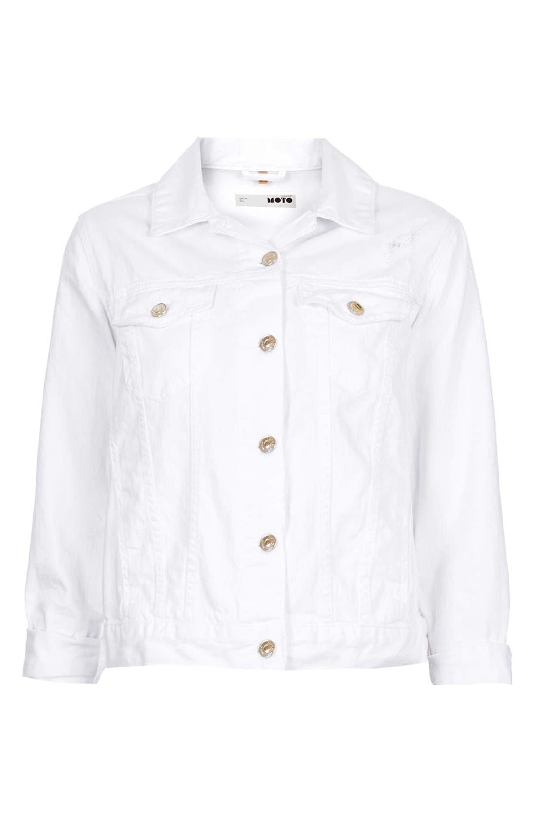 Alternate Image 3  - Topshop 'Tilda' Denim Jacket