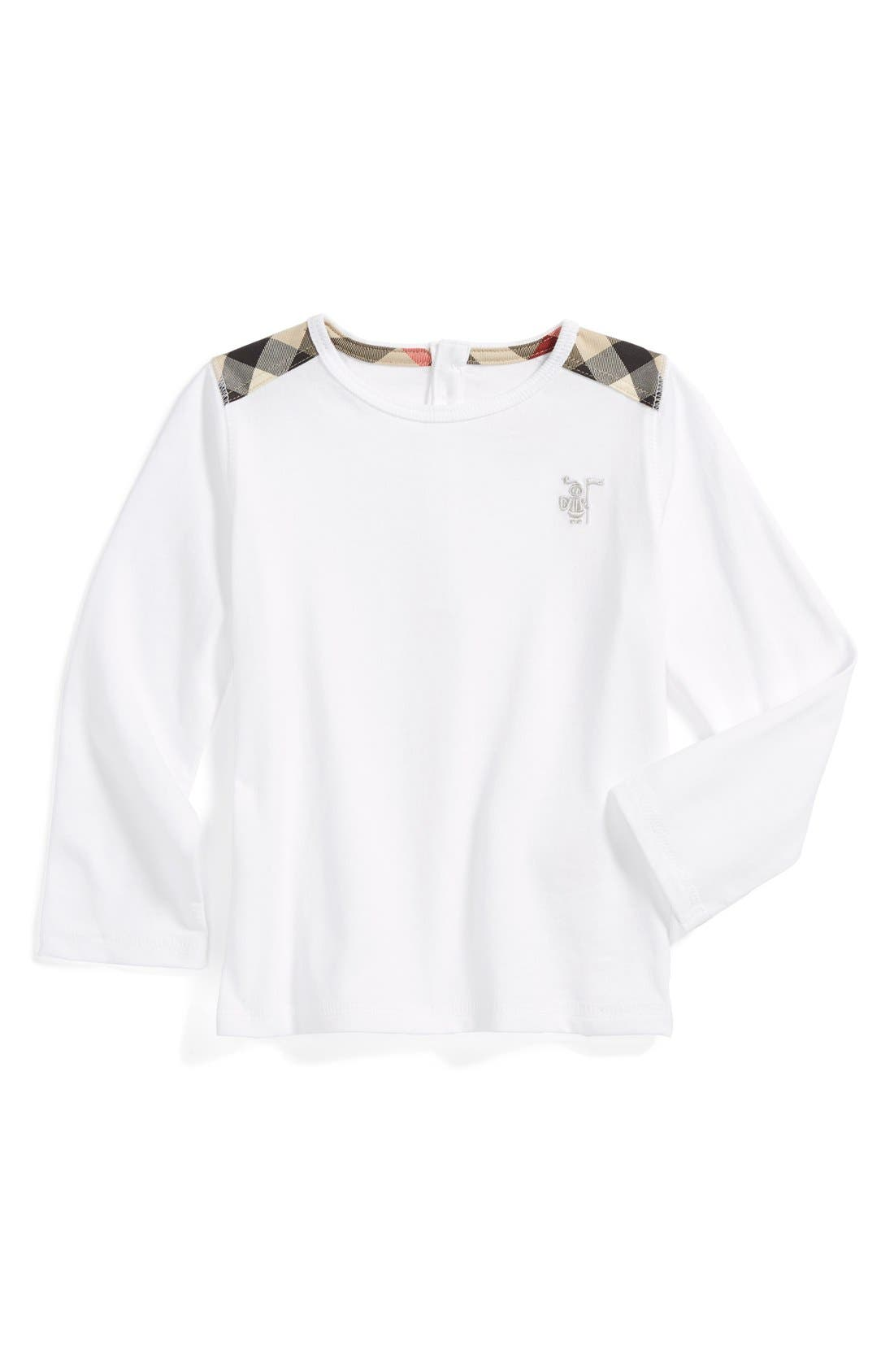 Alternate Image 1 Selected - Burberry Long Sleeve Tee (Baby Boys)