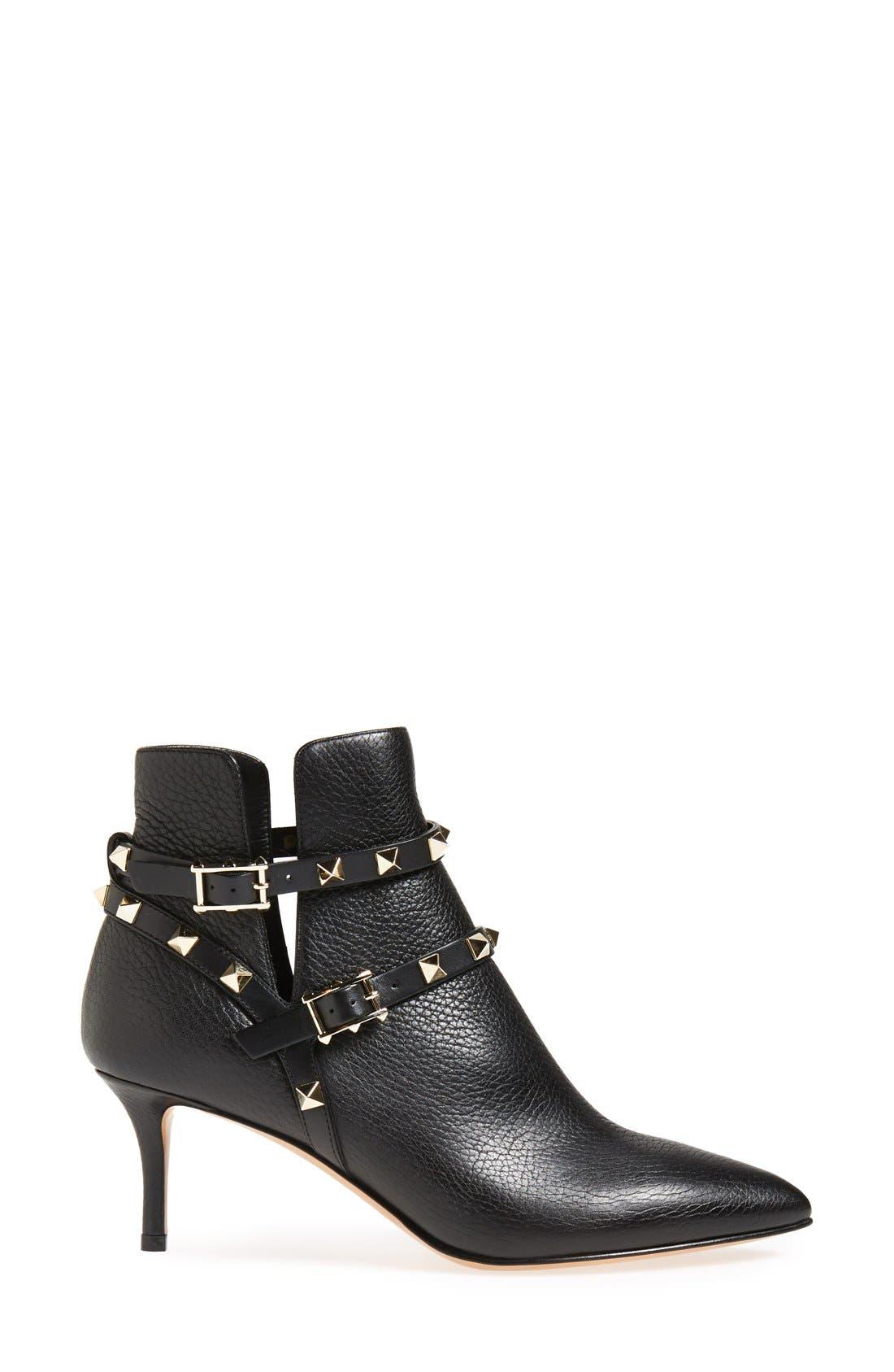 Alternate Image 4  - Valentino 'Rockstud' Pointy Toe Calfskin Leather Bootie (Women)