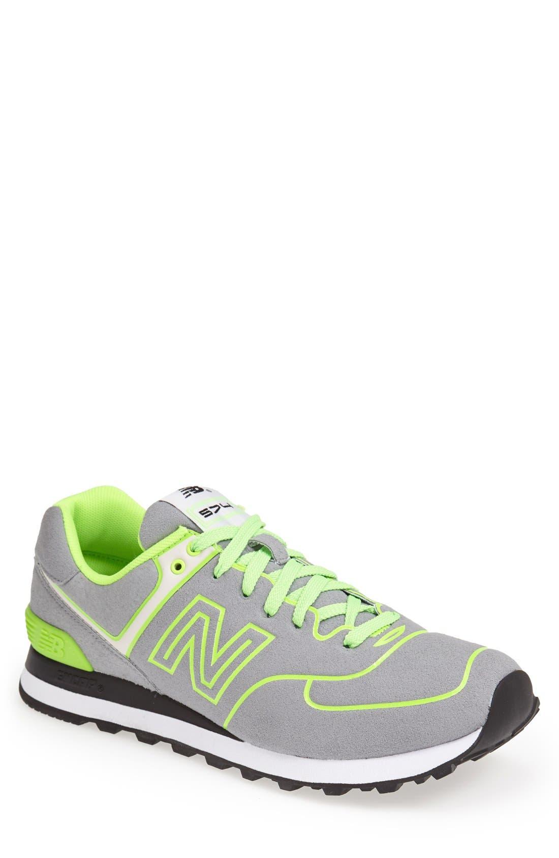 Alternate Image 1 Selected - New Balance '574 Neon' Sneaker (Men)