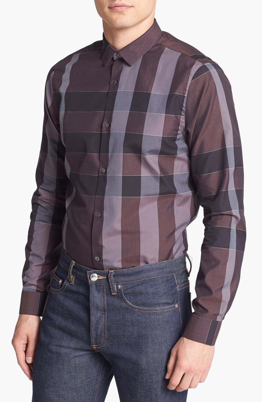 Alternate Image 1 Selected - Burberry London 'Pulbury' Check Sport Shirt
