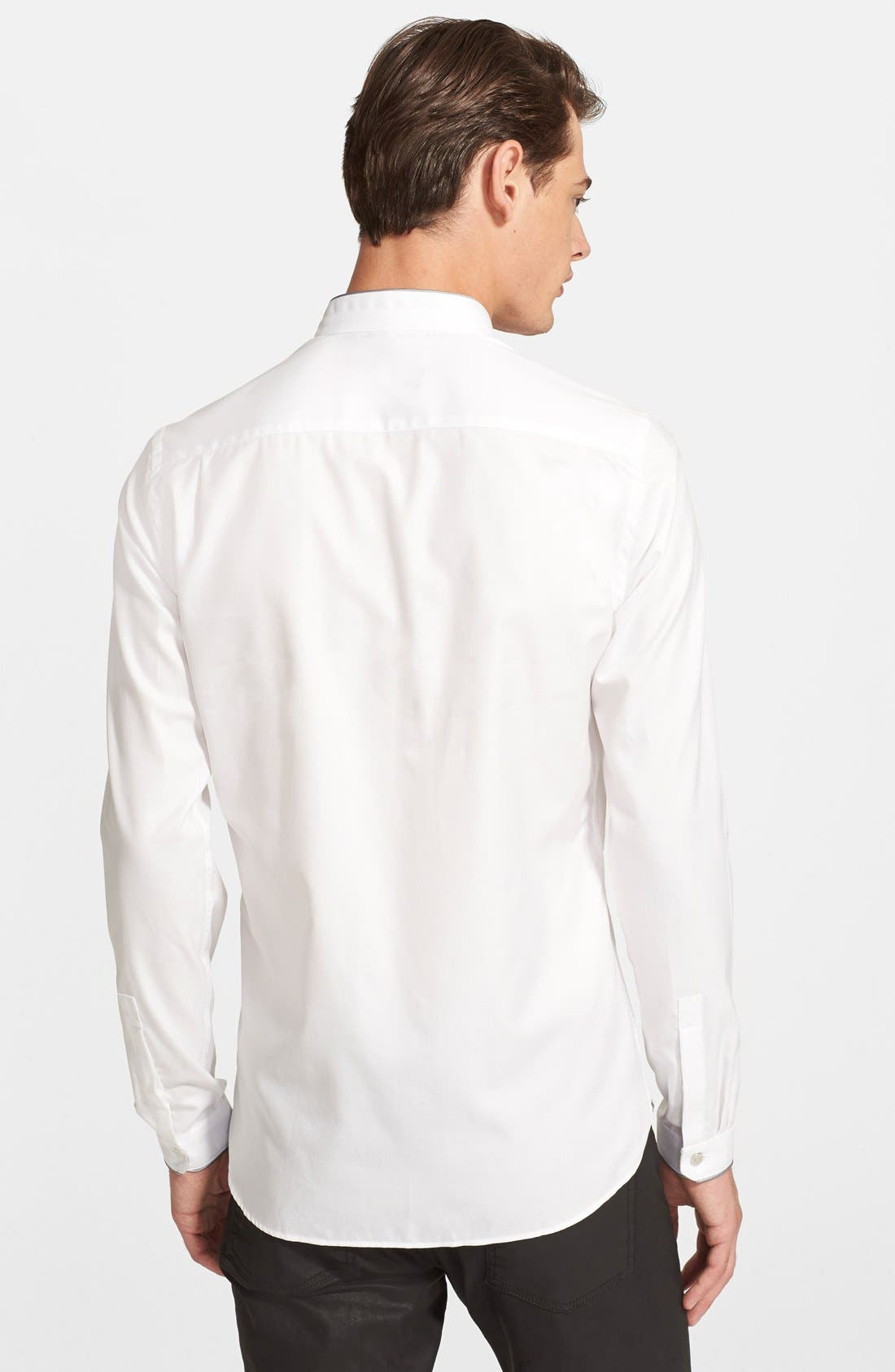 Alternate Image 2  - The Kooples Fitted Band Collar Dress Shirt
