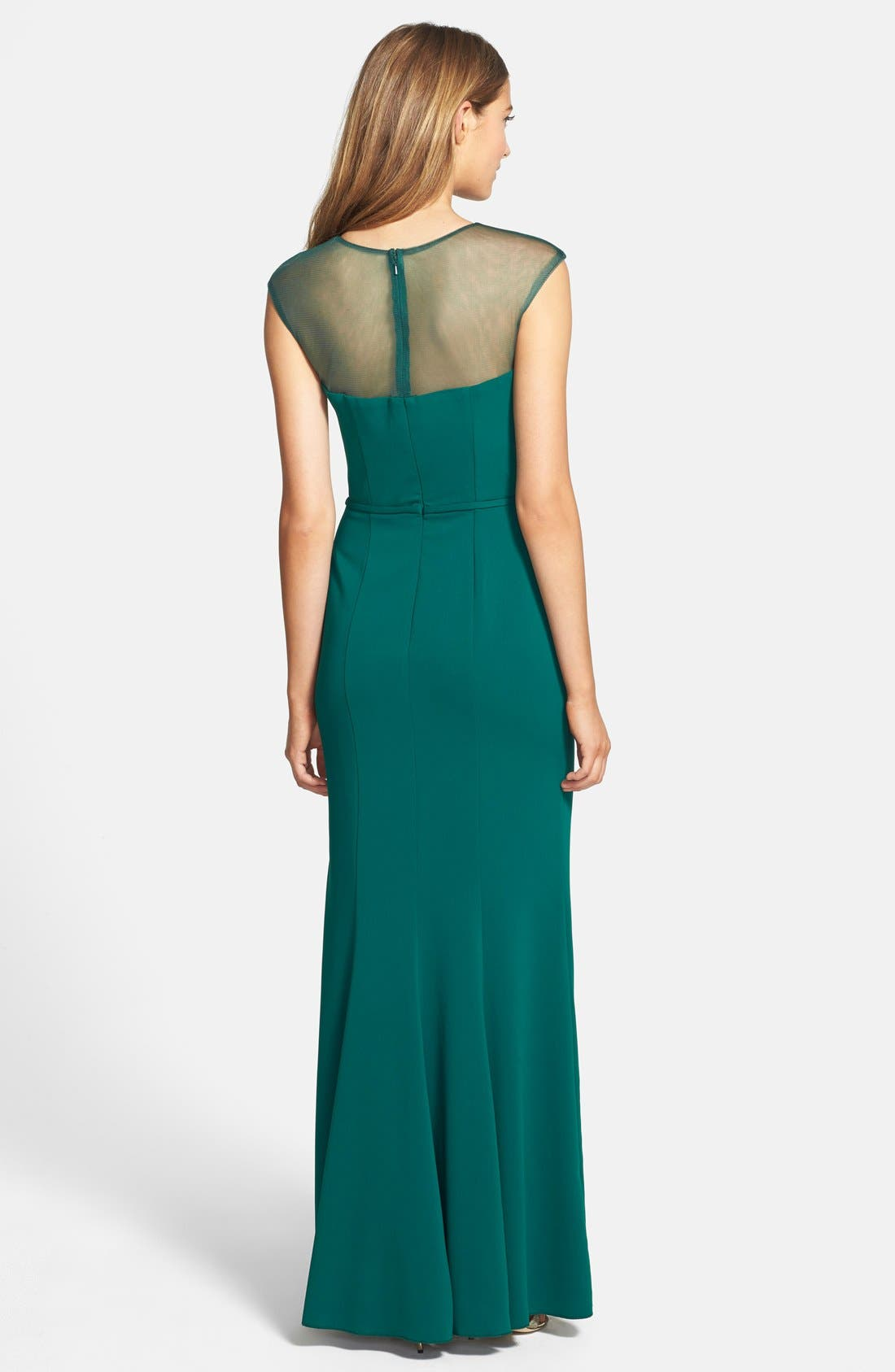 Alternate Image 2  - JS Boutique Beaded Crepe Gown