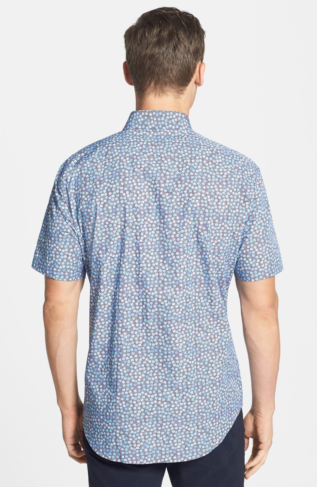 Alternate Image 2  - Zachary Prell 'Roya' Standard Fit Floral Short Sleeve Sport Shirt