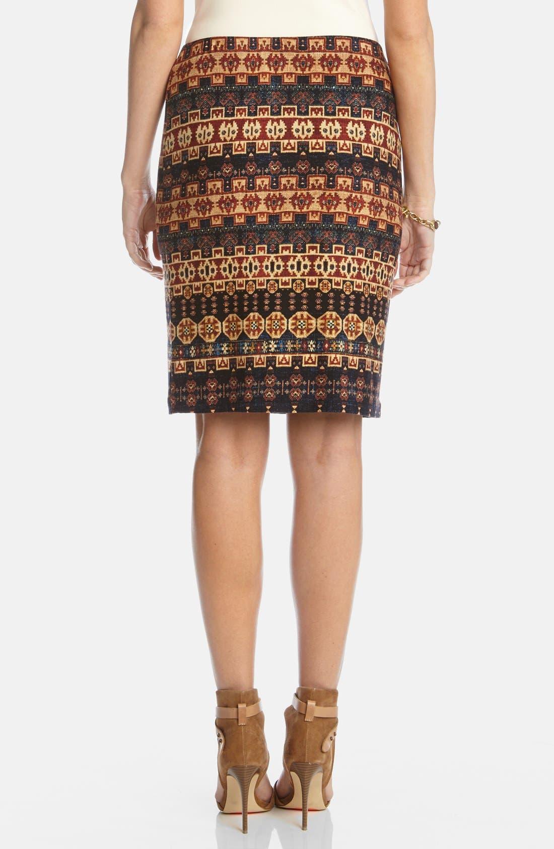Alternate Image 2  - Karen Kane 'Santa Fe' Pencil Skirt