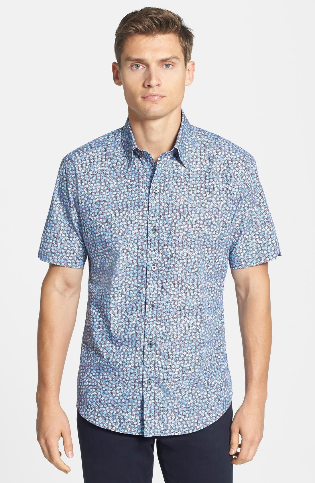 Alternate Image 1 Selected - Zachary Prell 'Roya' Standard Fit Floral Short Sleeve Sport Shirt