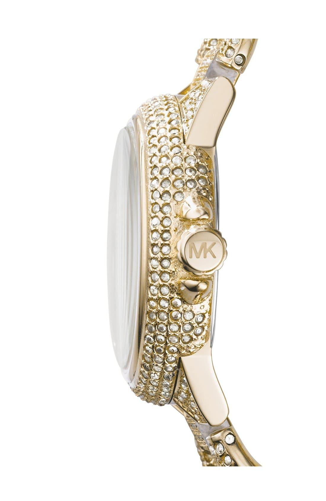 Alternate Image 3  - Michael Kors 'Mini Camille' Crystal Encrusted Chain Link Bracelet Watch, 34mm