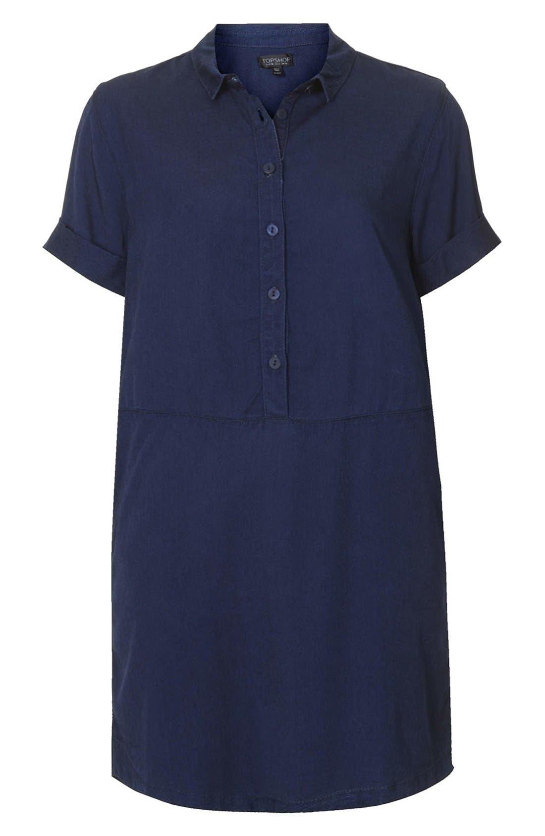 Alternate Image 3  - Topshop Denim Shirtdress