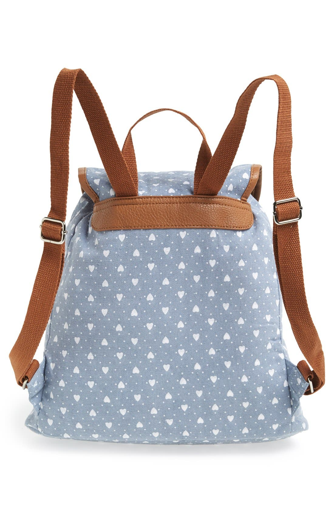 Alternate Image 4  - Amici Accessories Heart Print Backpack (Juniors) (Online Only)