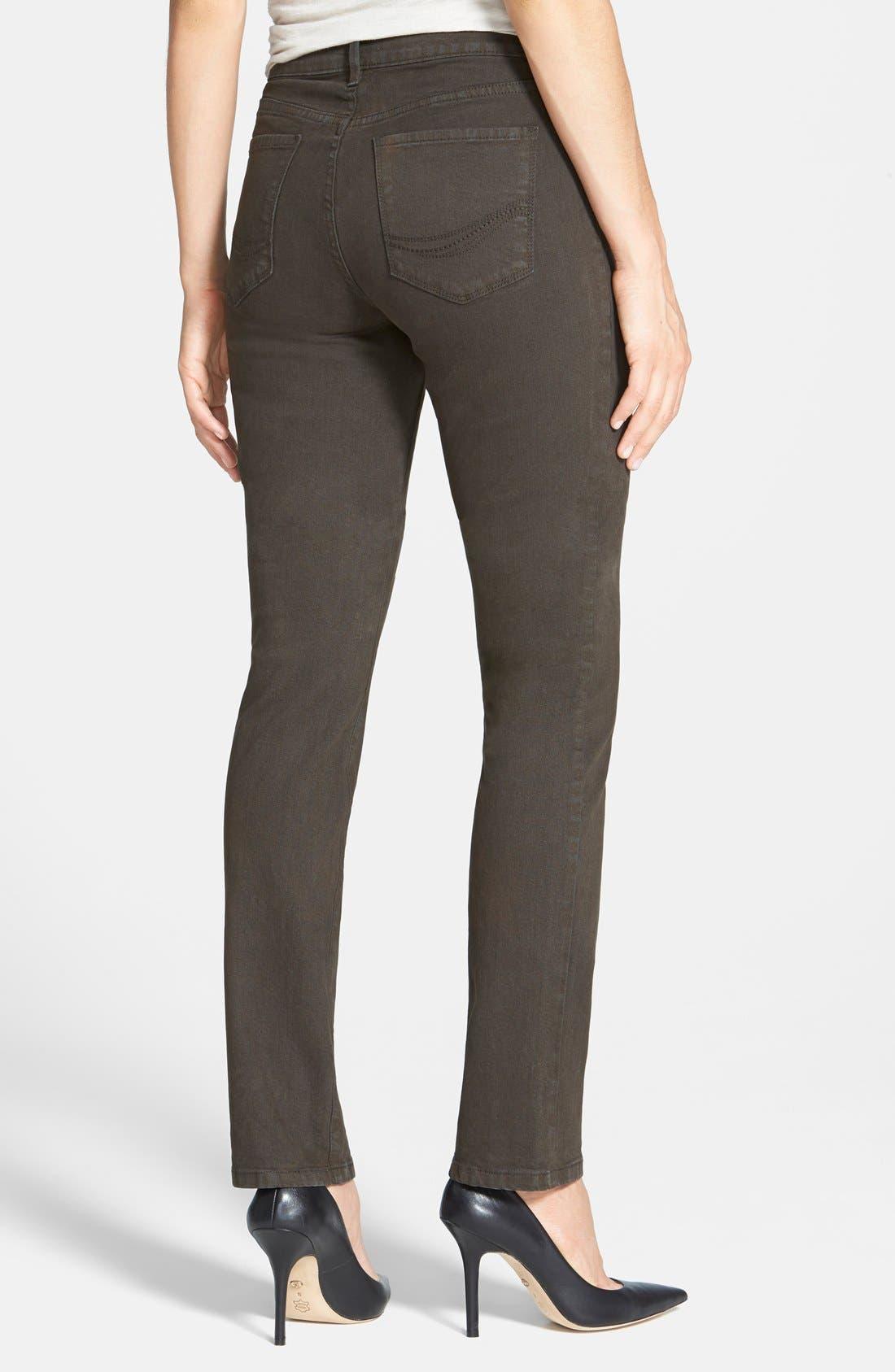 Alternate Image 2  - NYDJ Sheri Colored Stretch Skinny Jeans (Petite)