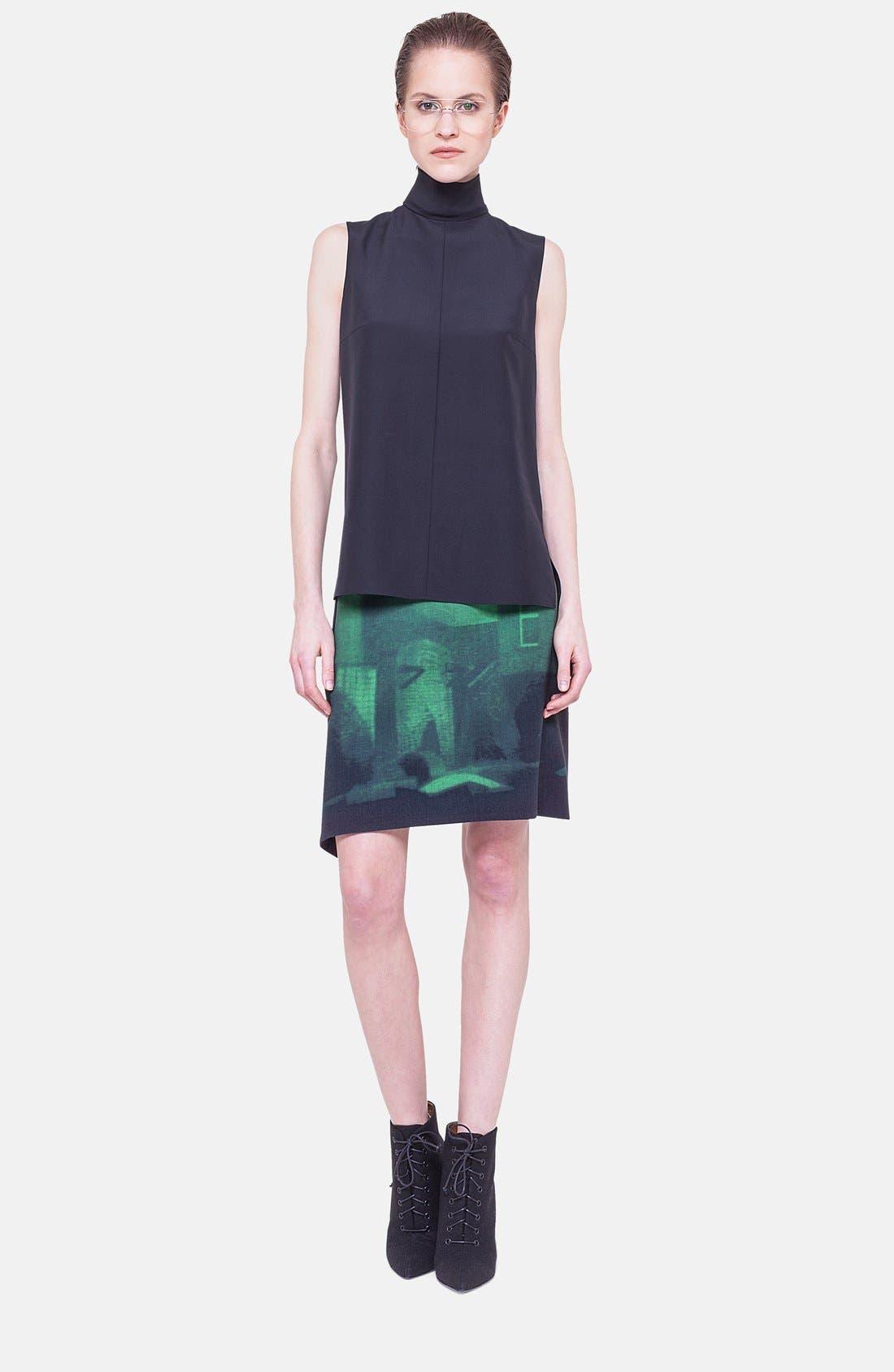 Alternate Image 2  - Akris Print Double Face Wool Blend Skirt