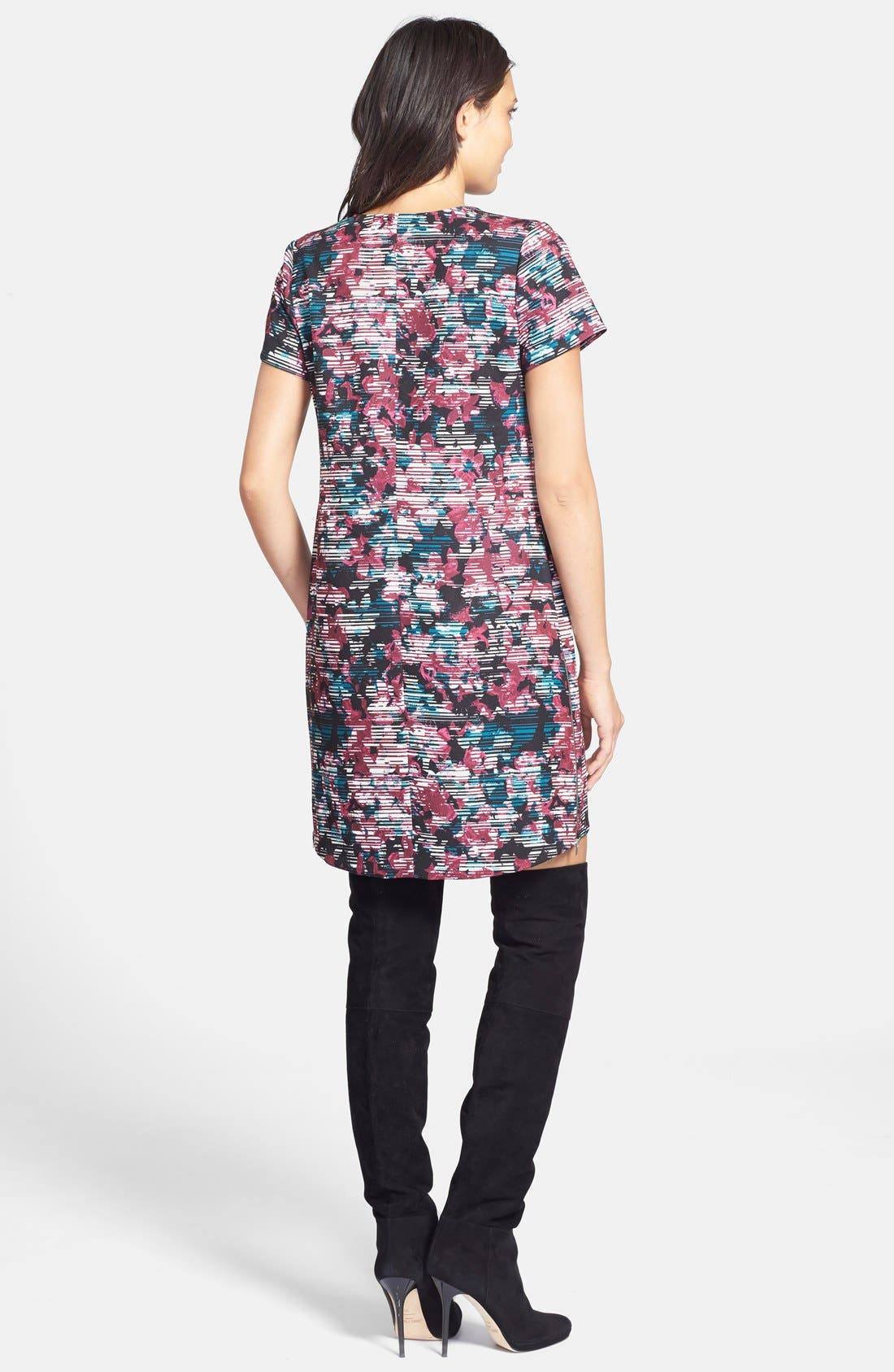 Alternate Image 2  - Wayf Crepe Print Shift Dress
