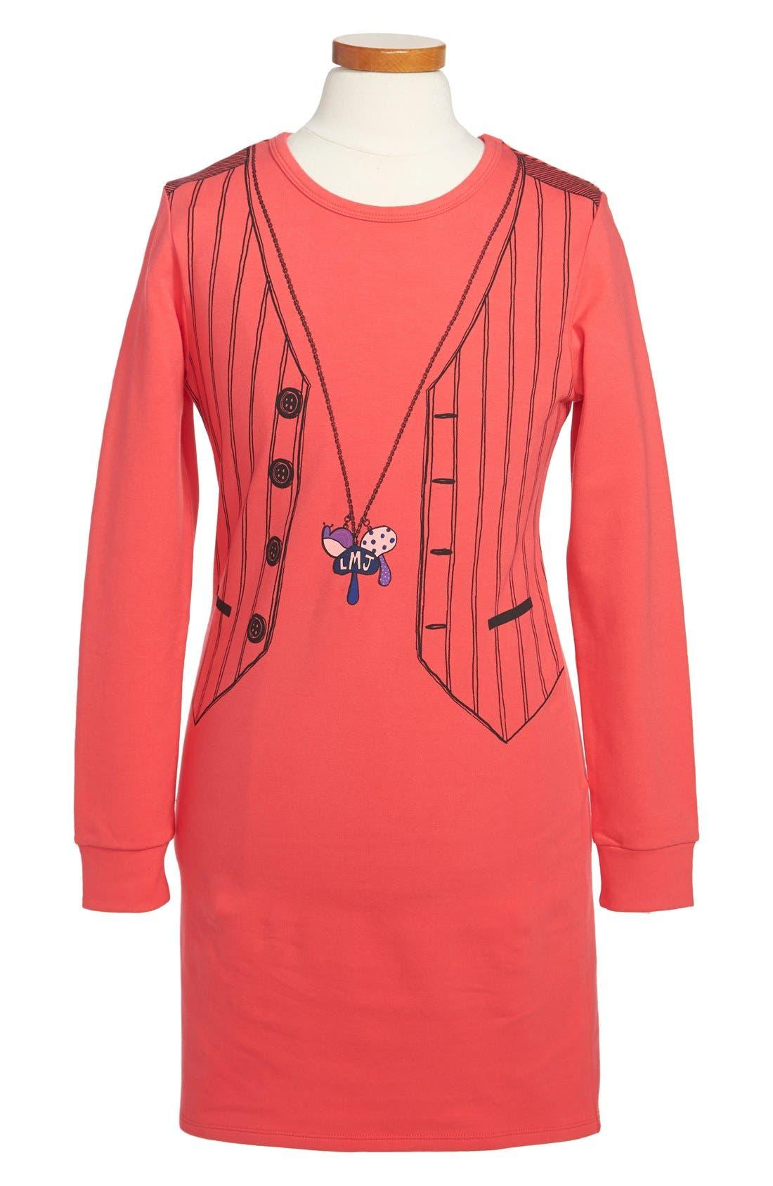 Alternate Image 1 Selected - LITTLE MARC JACOBS 'Tromp l'Oeil' Dress (Toddler Girls, Little Girls & Big Girls)