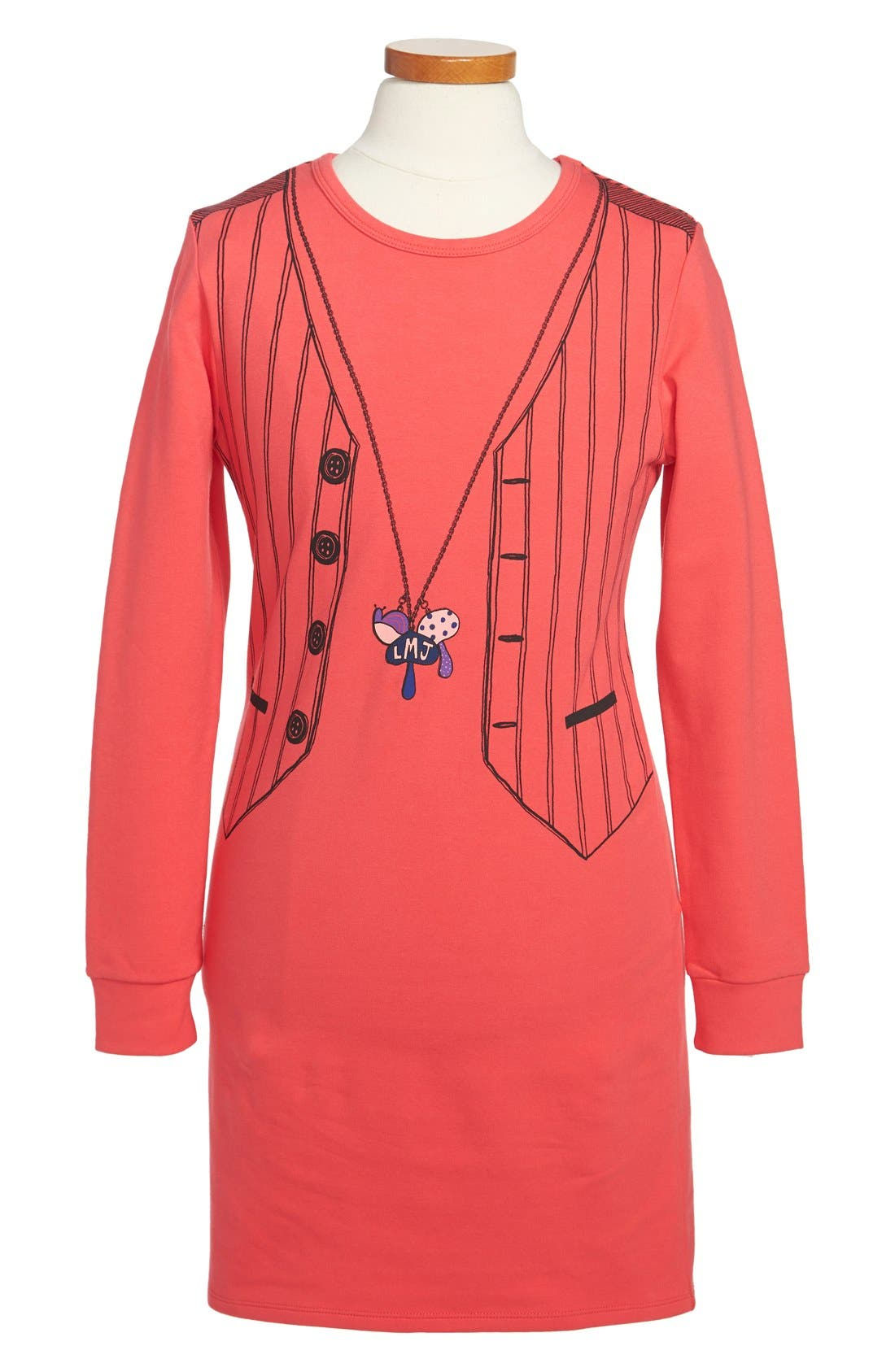 Main Image - LITTLE MARC JACOBS 'Tromp l'Oeil' Dress (Toddler Girls, Little Girls & Big Girls)