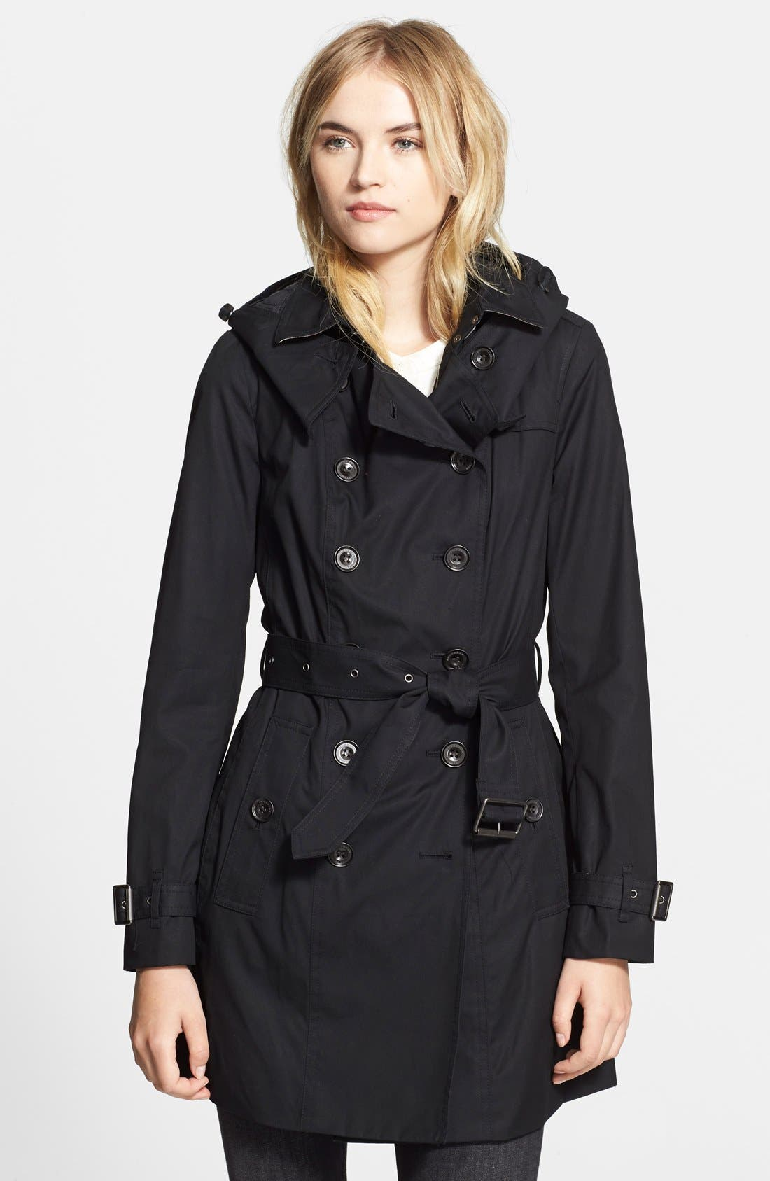 Alternate Image 4  - Burberry Brit 'Reymoore' Trench Coat with Detachable Hood & Liner
