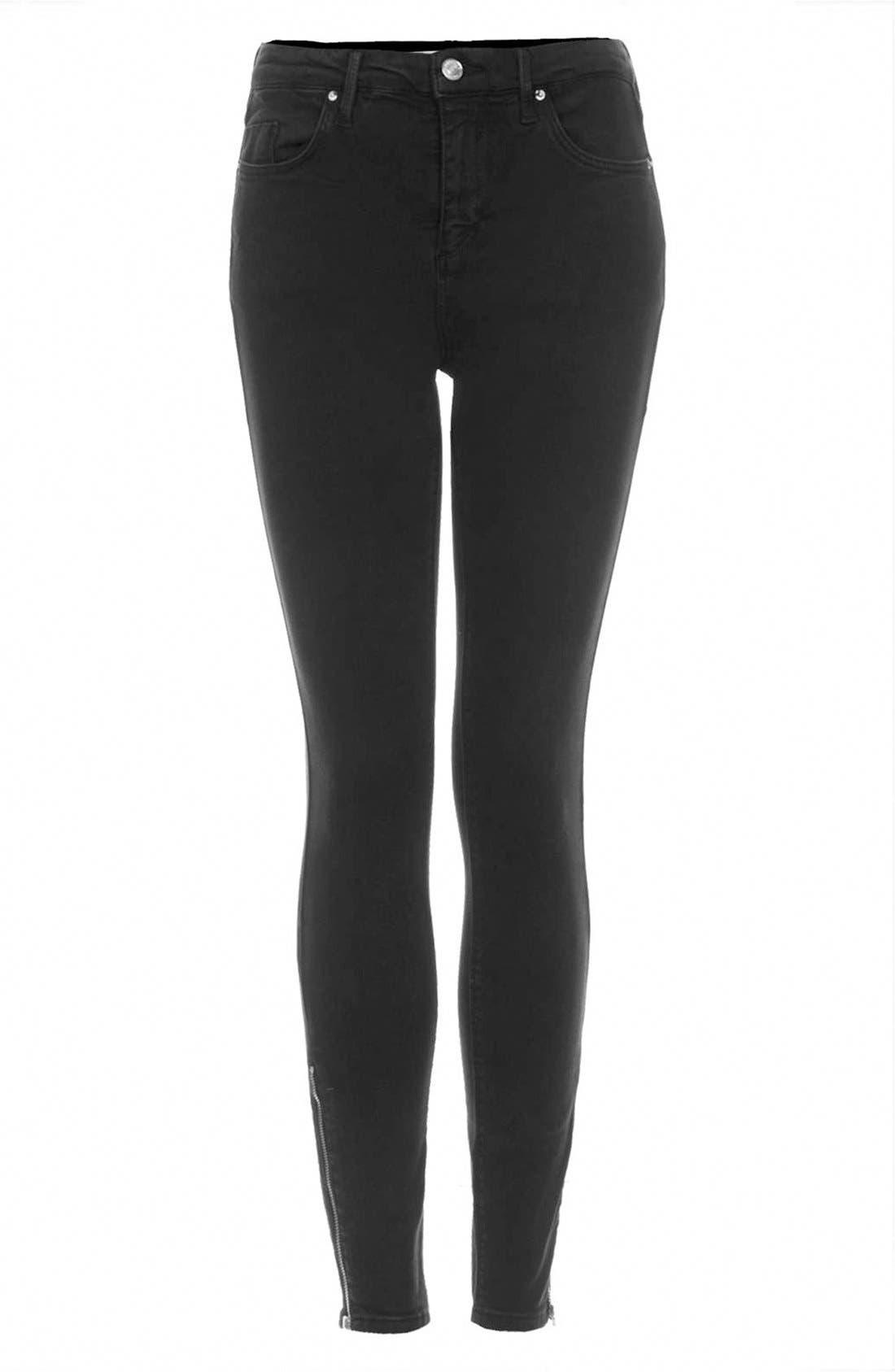 Alternate Image 3  - Topshop 'Jamie' Zip Ankle Jeans