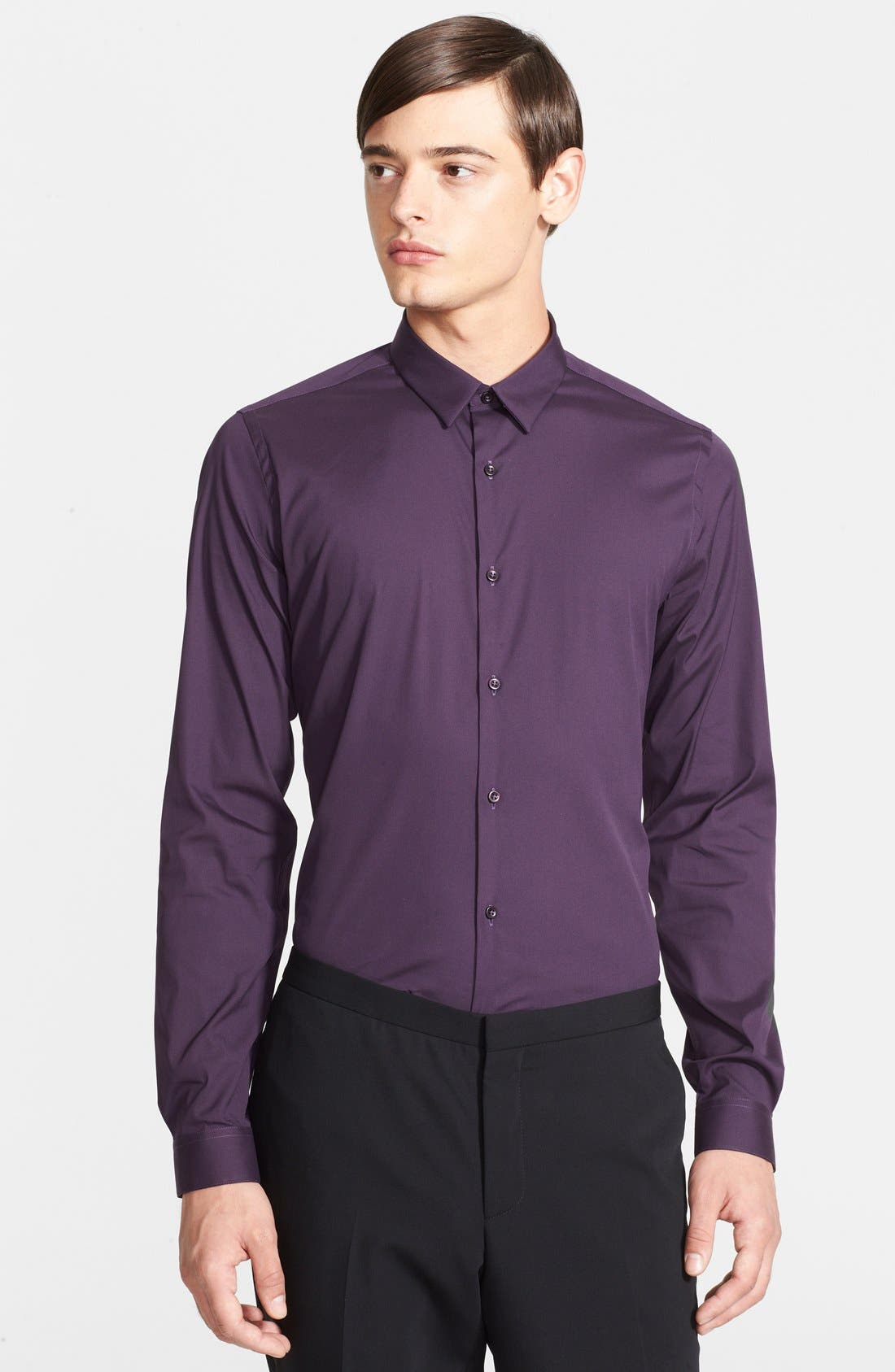 Alternate Image 1 Selected - The Kooples Fitted Poplin Dress Shirt