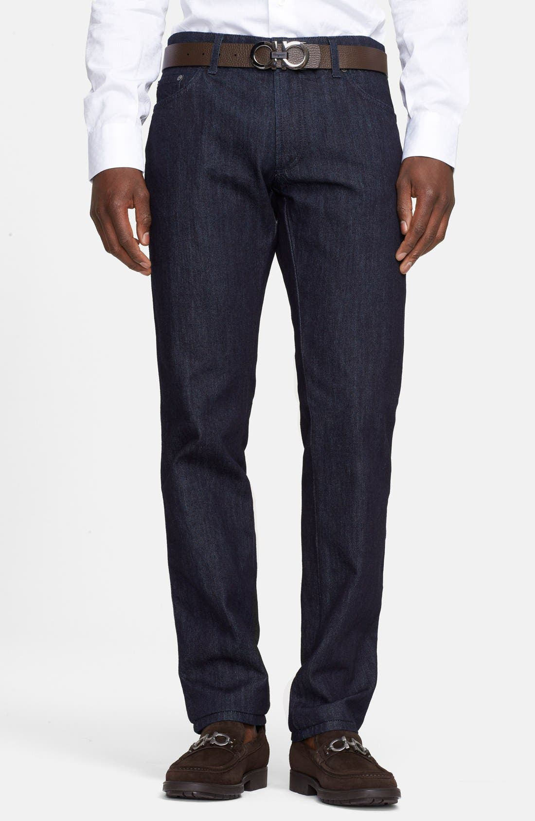Alternate Image 1 Selected - Salvatore Ferragamo 'Blue' Straight Leg Jeans