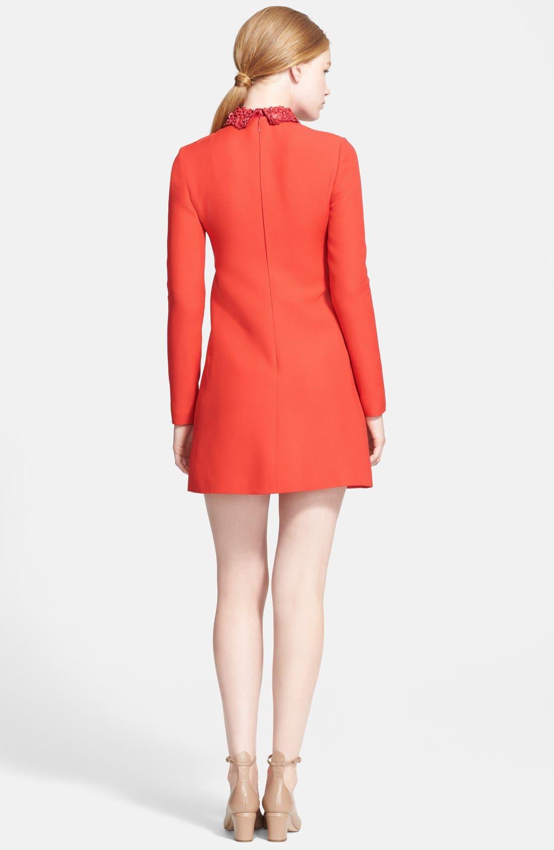 Alternate Image 2  - Valentino Embellished Leather Collar Minidress