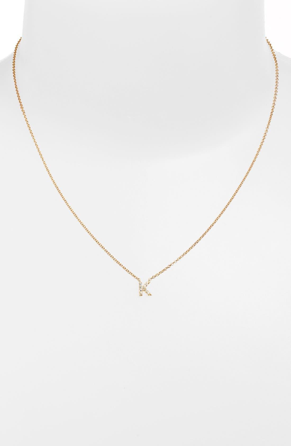 Main Image - Sugar Bean Jewelry 'Initial' Pendant Necklace