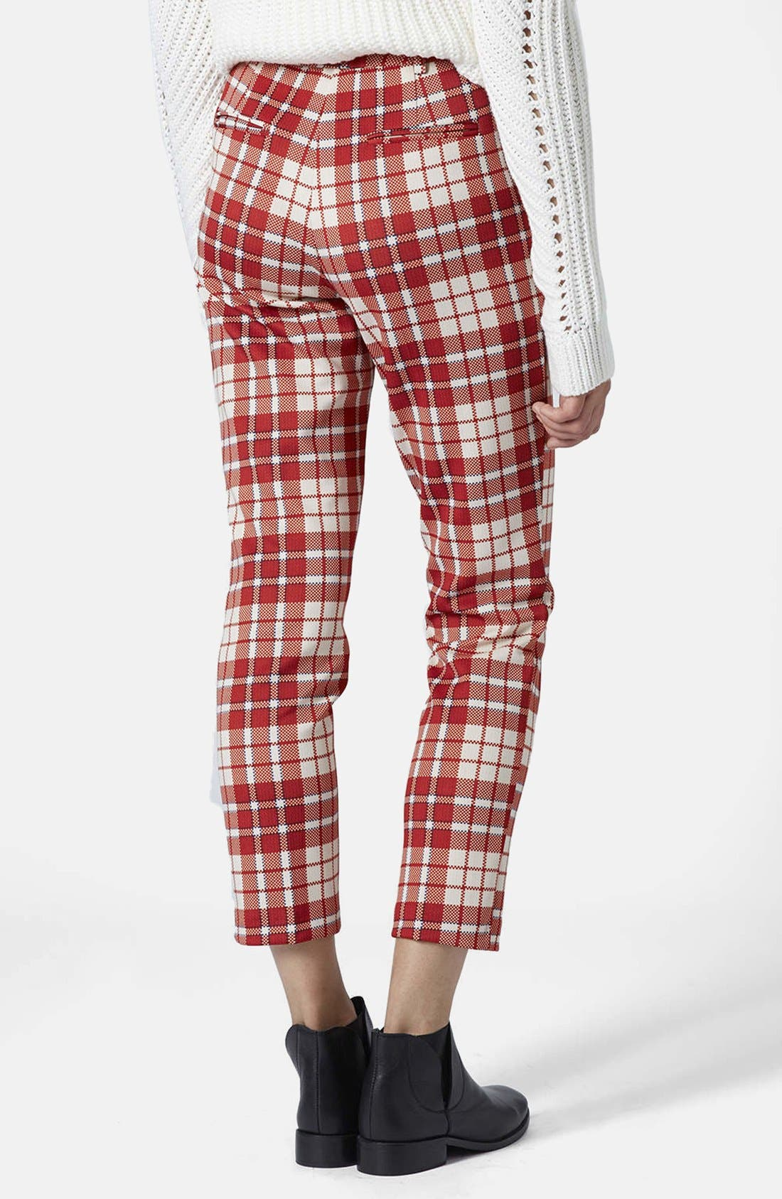 Alternate Image 2  - Topshop Laundry Check Cigarette Trousers