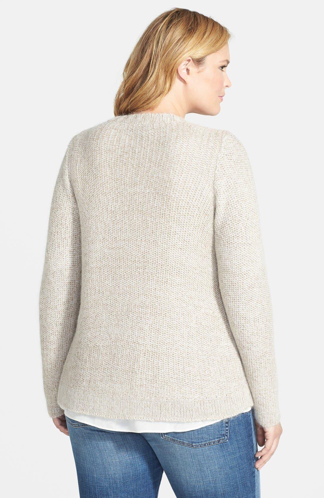 Alternate Image 2  - Eileen Fisher V-Neck Short Cardigan (Plus Size)