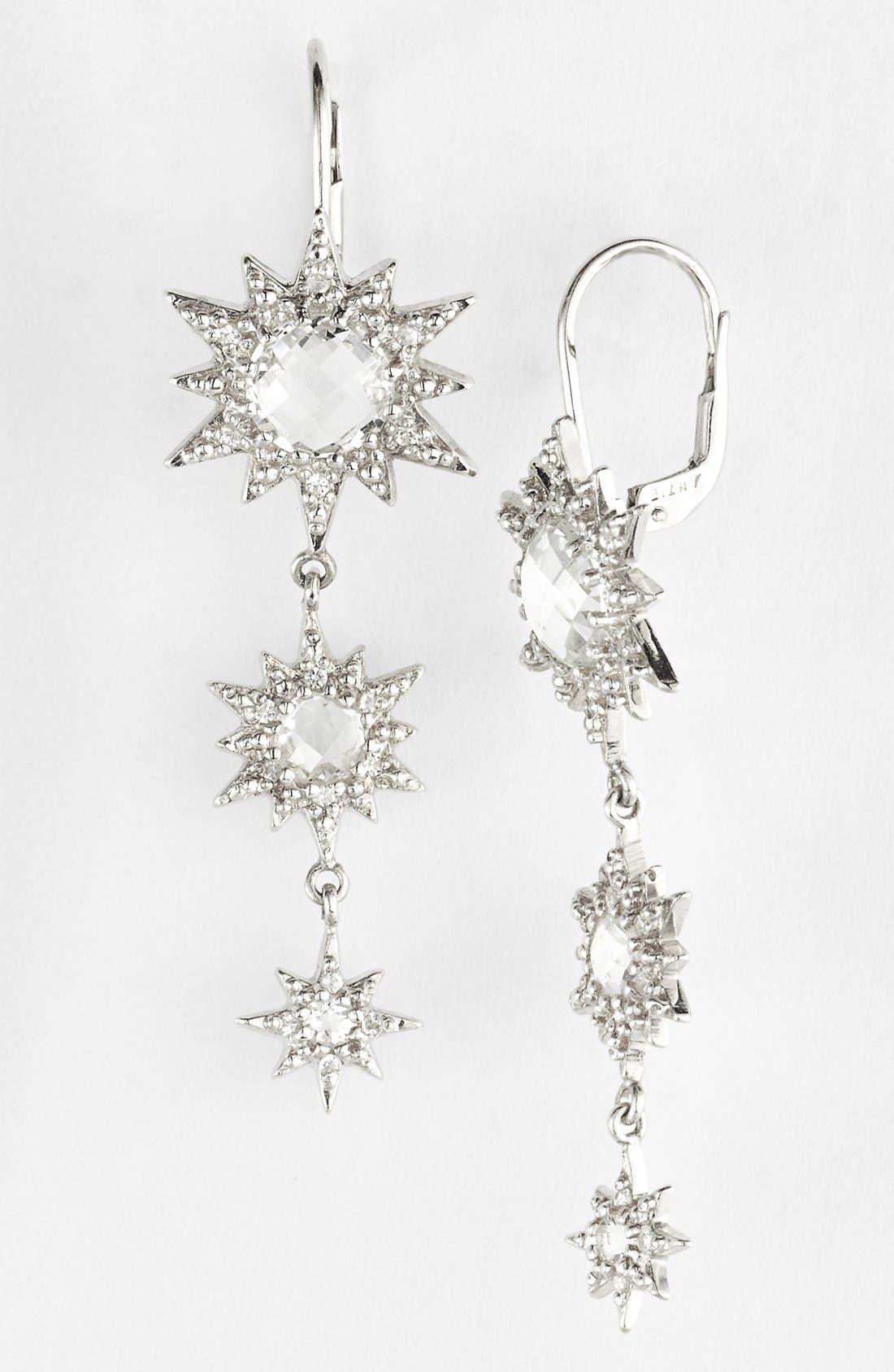Alternate Image 1 Selected - Anzie 'Aztec' Starburst Linear Earrings (Nordstrom Exclusive)