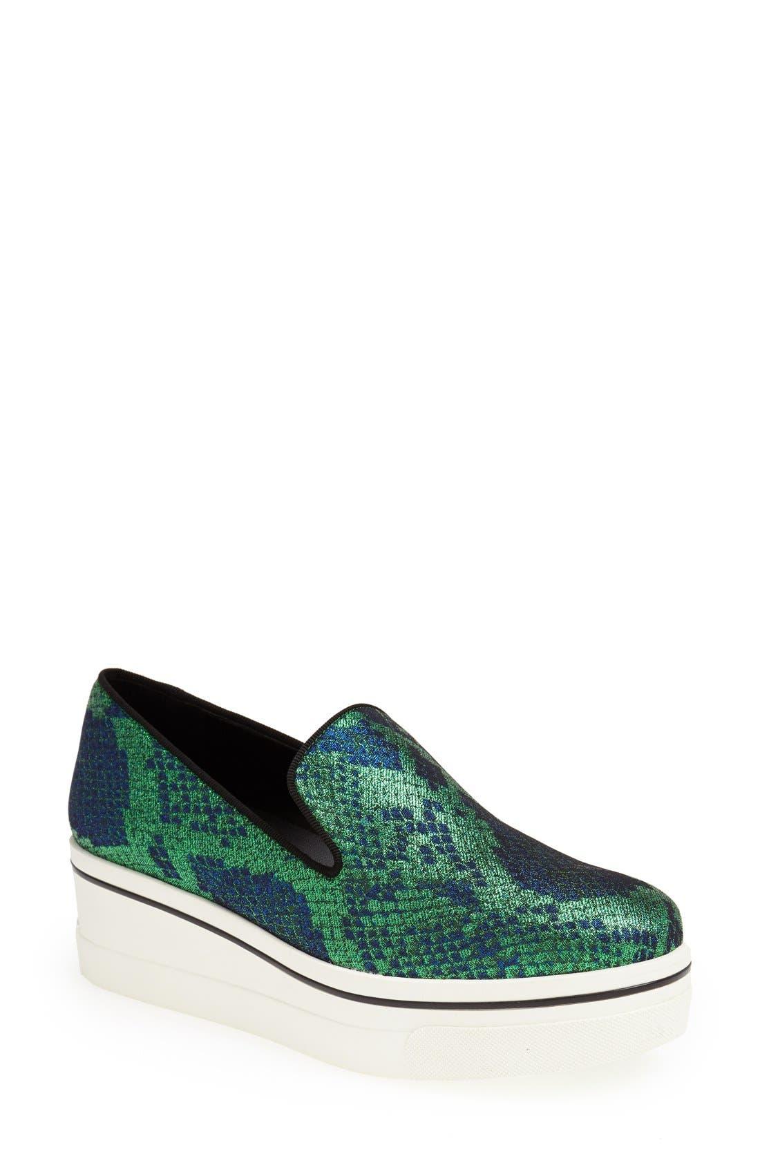 Alternate Image 1 Selected - Stella McCartney Python Print Platform Slip-On Sneaker (Women)