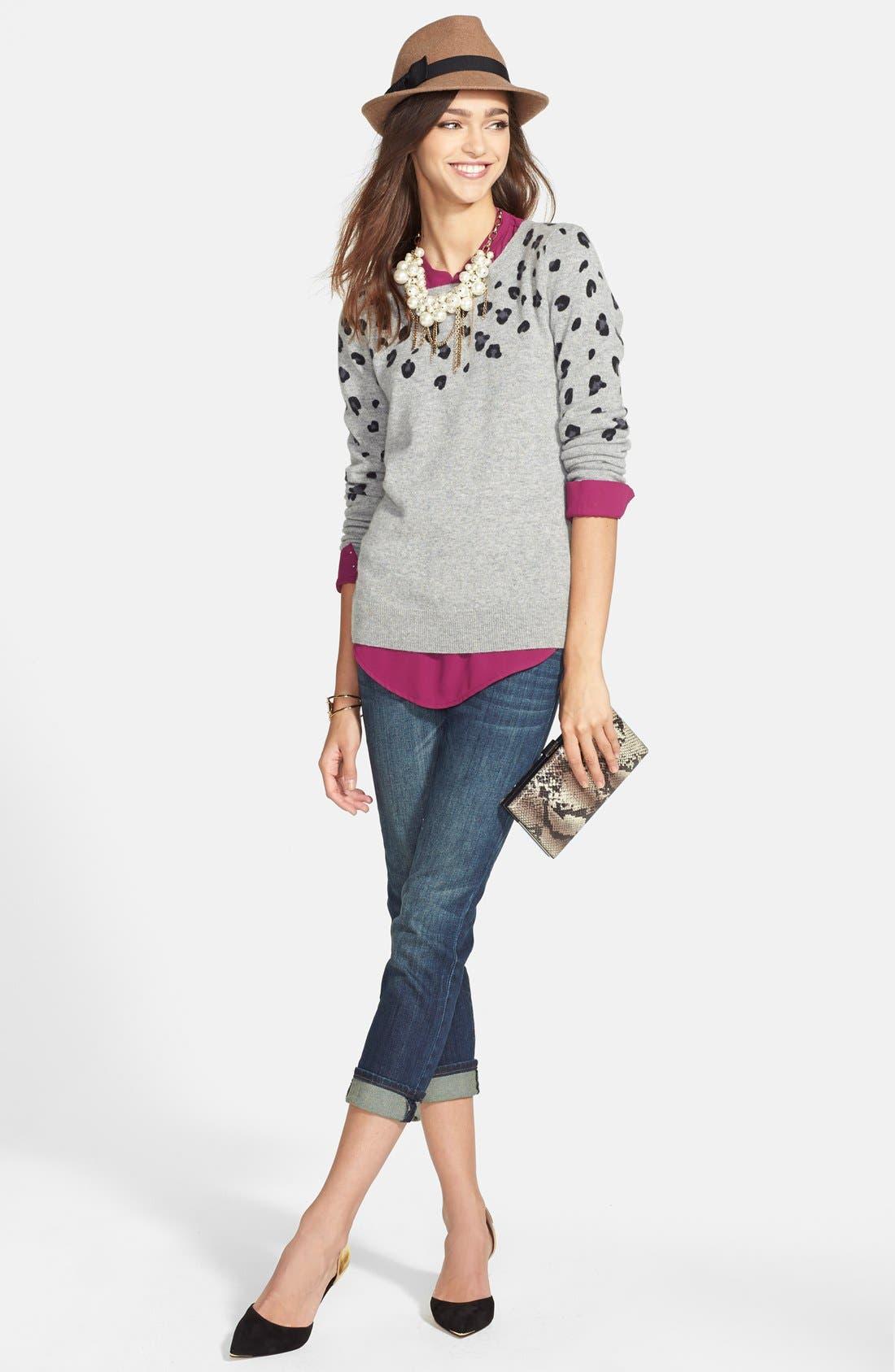 Alternate Image 4  - Halogen® Cashmere Crewneck Sweater (Regular & Petite)