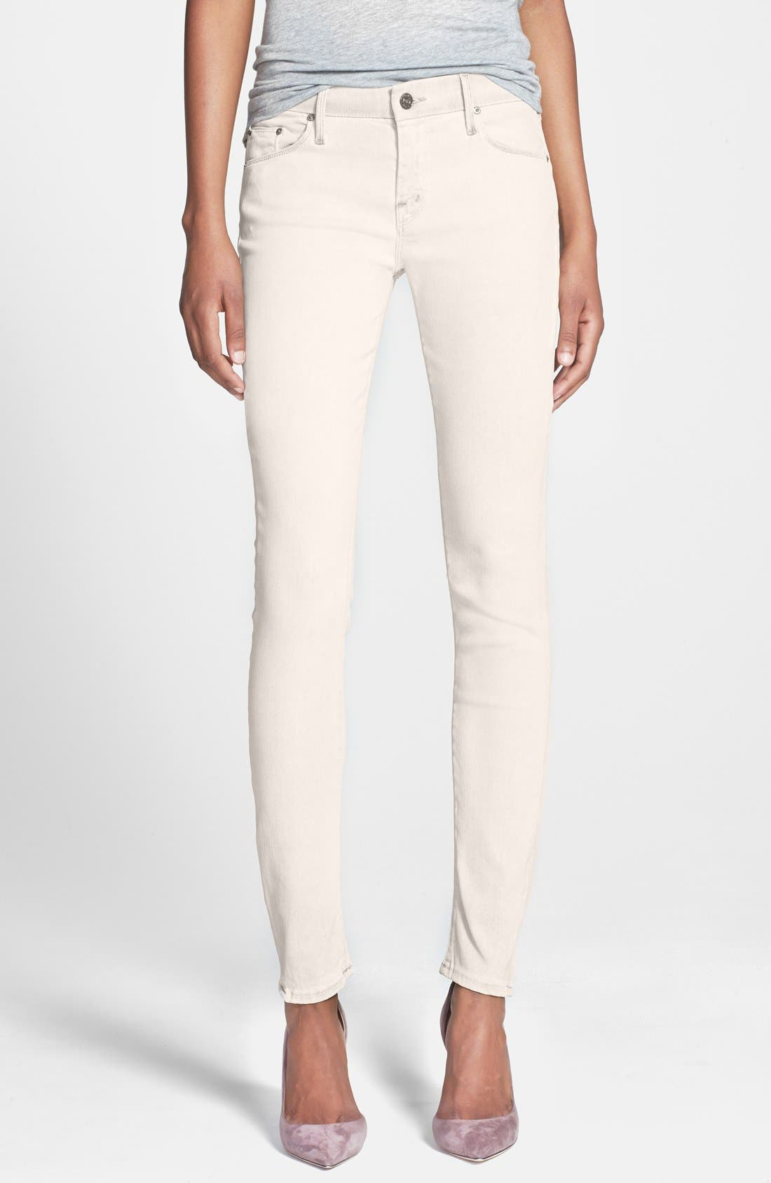 Main Image - MOTHER 'The Looker' Skinny Stretch Jeans (Driftwood)