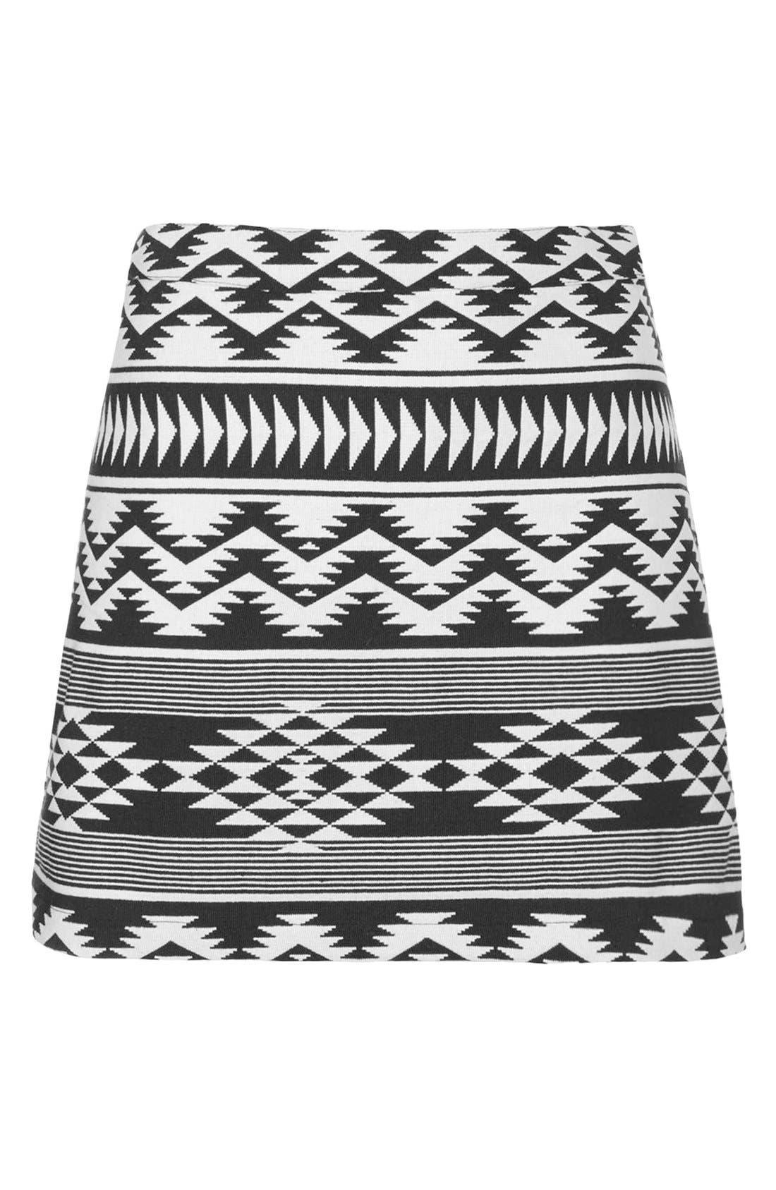 Alternate Image 3  - Topshop Geo Print A-Line Skirt